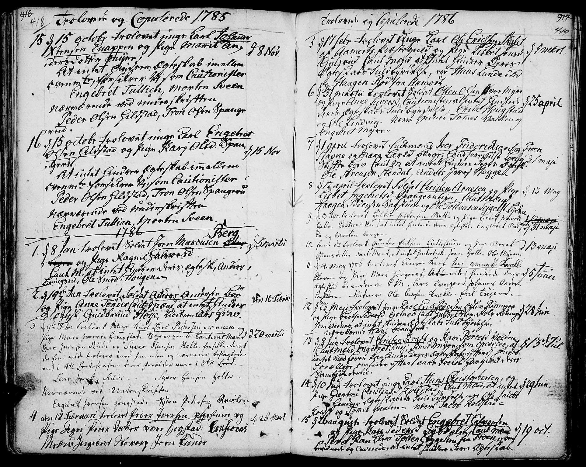 SAH, Ringebu prestekontor, Ministerialbok nr. 3, 1781-1820, s. 418-419