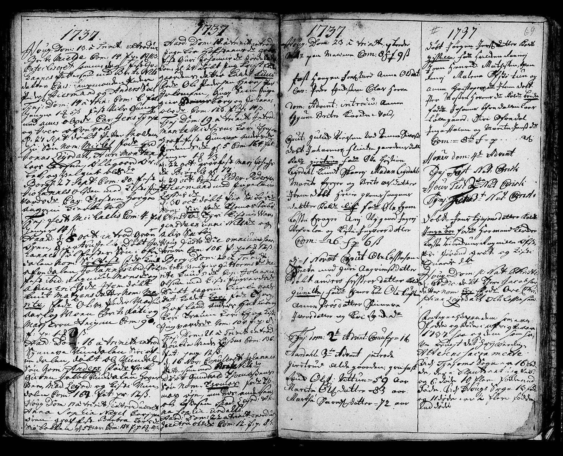 SAB, Lærdal sokneprestembete, Ministerialbok nr. A 1, 1711-1752, s. 69