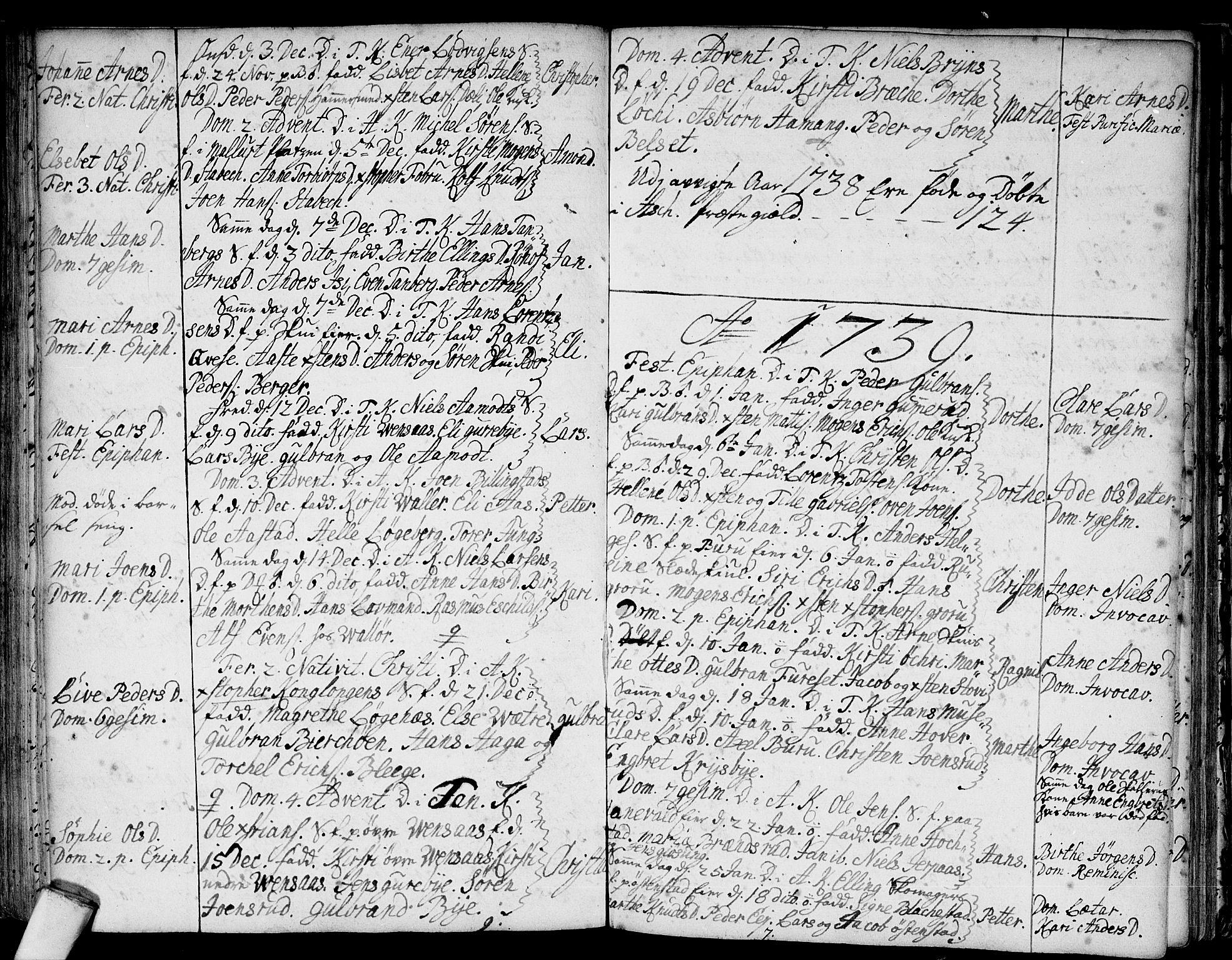 SAO, Asker prestekontor Kirkebøker, F/Fa/L0001: Ministerialbok nr. I 1, 1726-1744, s. 58
