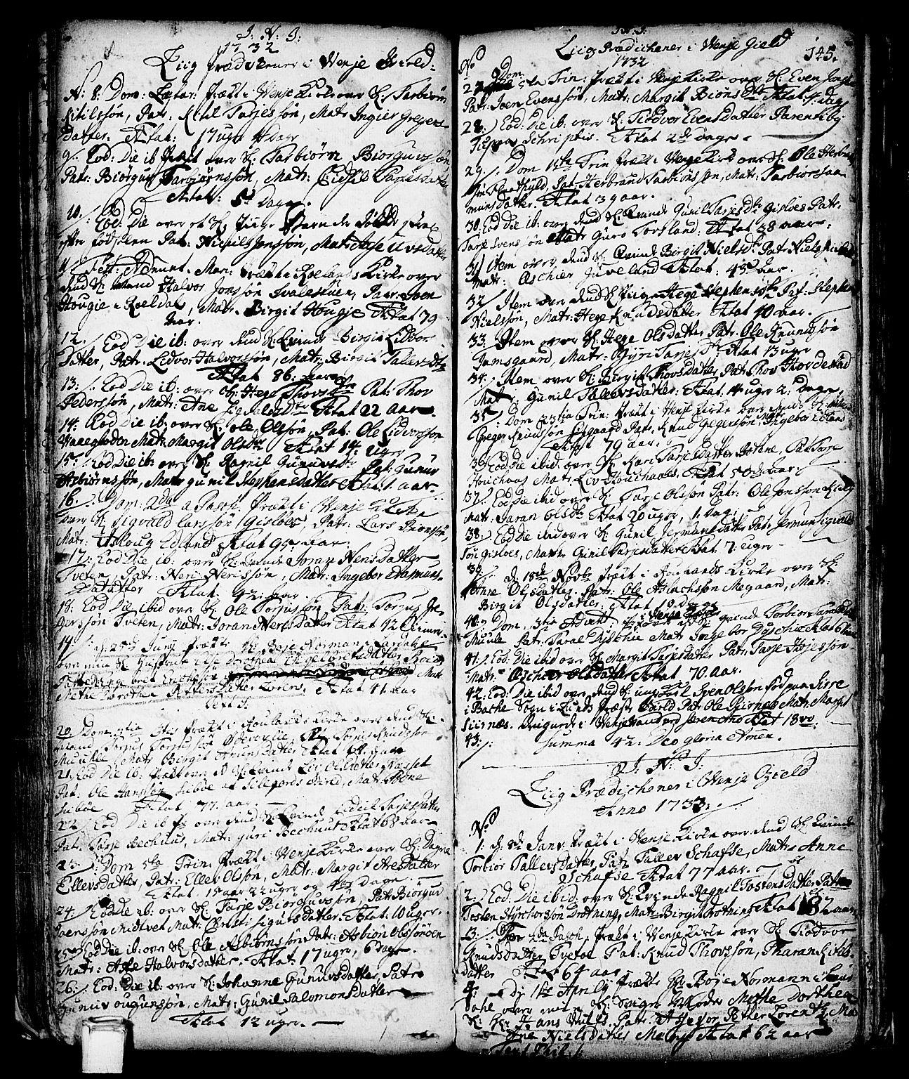 SAKO, Vinje kirkebøker, F/Fa/L0001: Ministerialbok nr. I 1, 1717-1766, s. 145