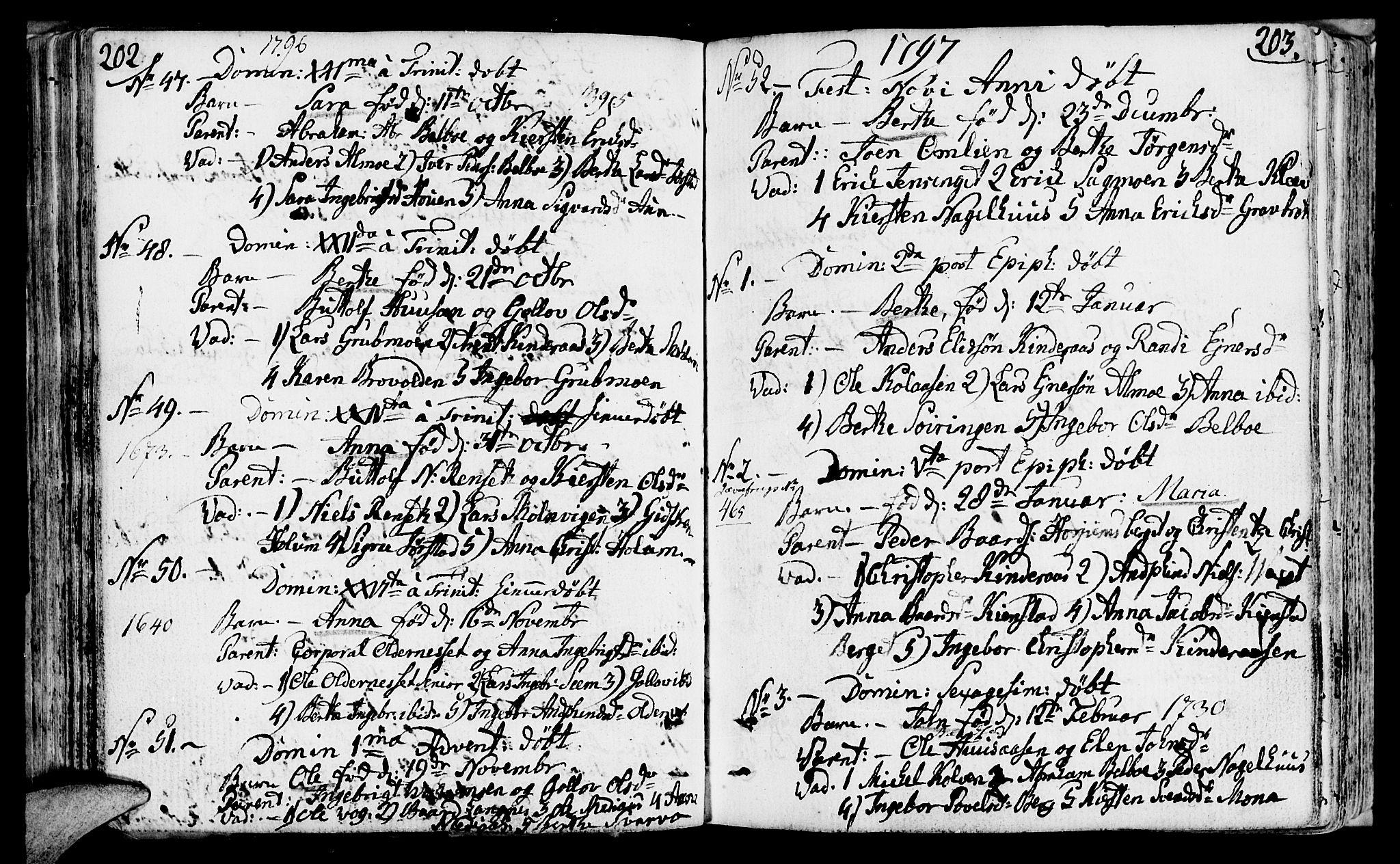 SAT, Ministerialprotokoller, klokkerbøker og fødselsregistre - Nord-Trøndelag, 749/L0468: Ministerialbok nr. 749A02, 1787-1817, s. 202-203