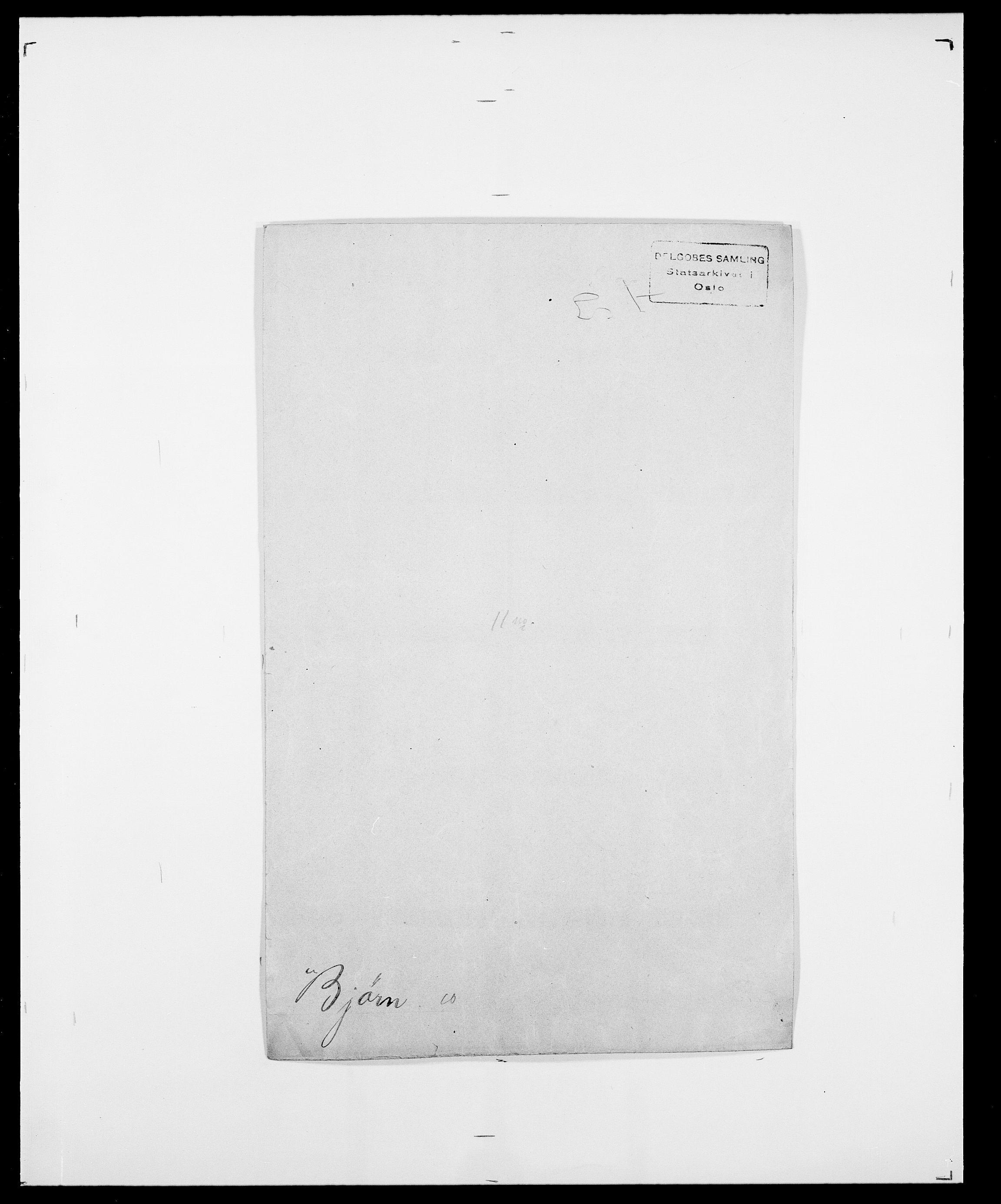 SAO, Delgobe, Charles Antoine - samling, D/Da/L0004: Bergendahl - Blære, s. 448