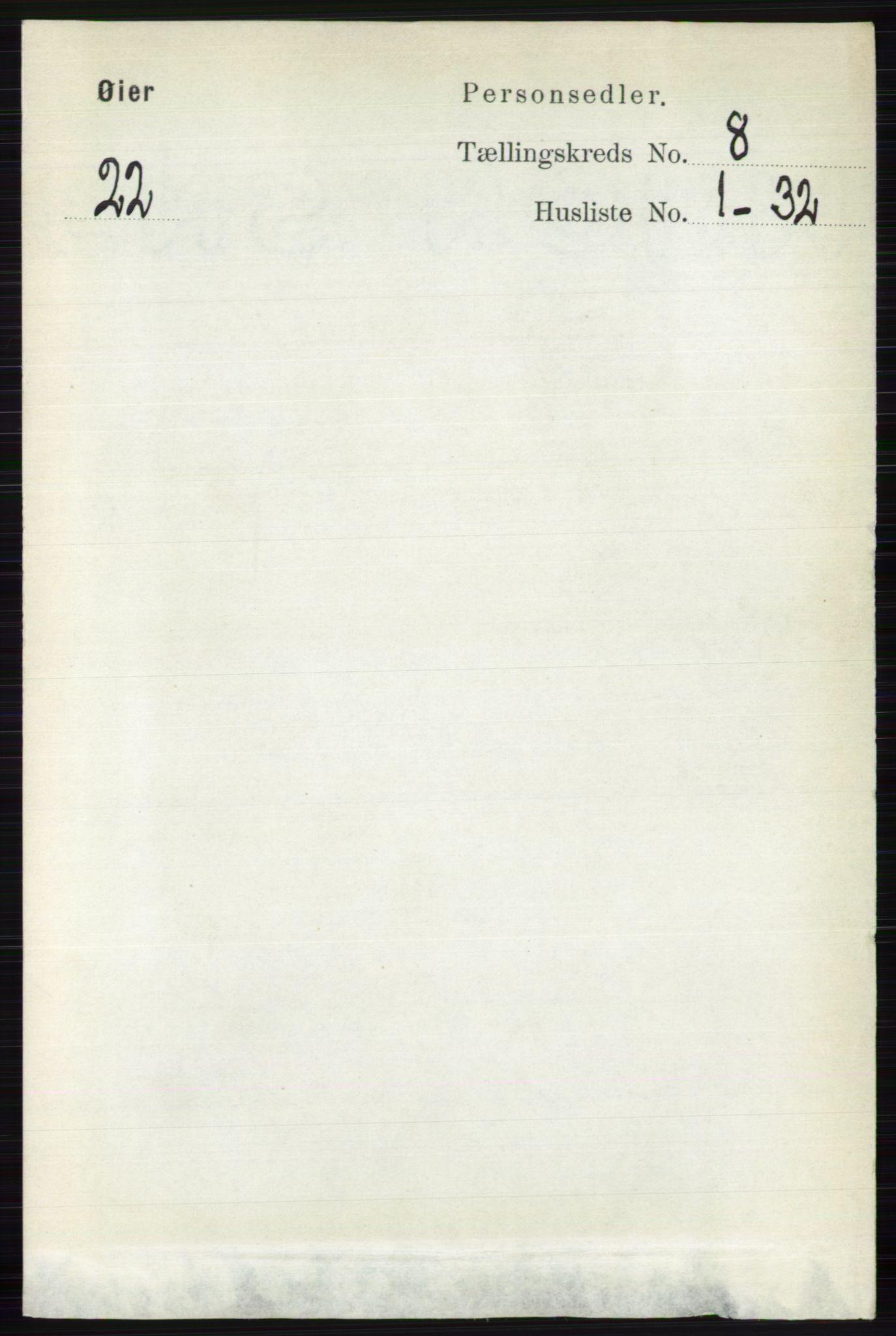 RA, Folketelling 1891 for 0521 Øyer herred, 1891, s. 2715