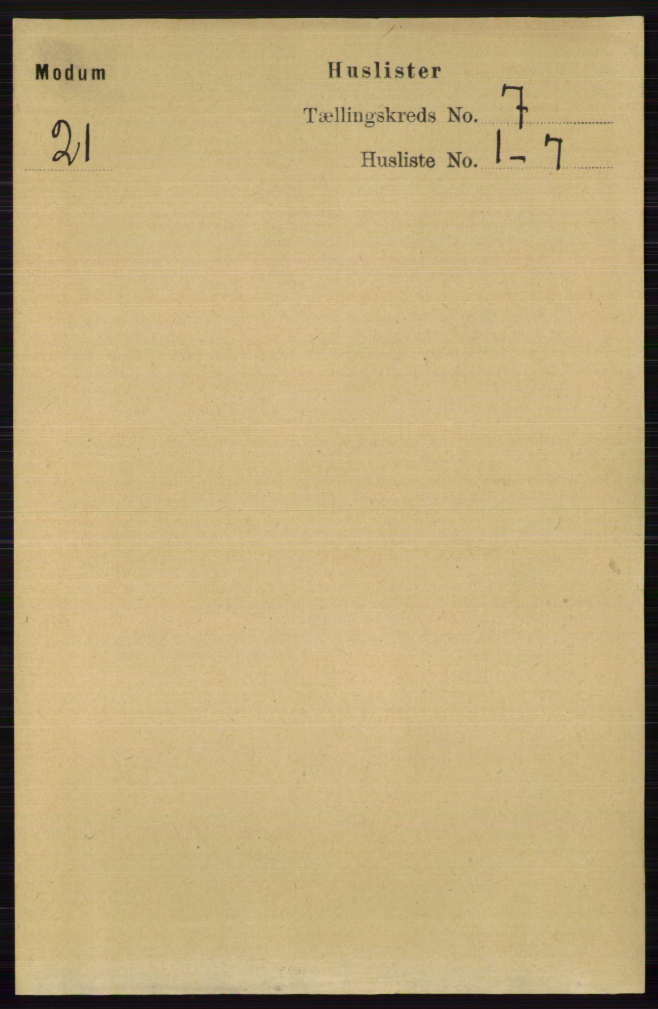 RA, Folketelling 1891 for 0623 Modum herred, 1891, s. 2717