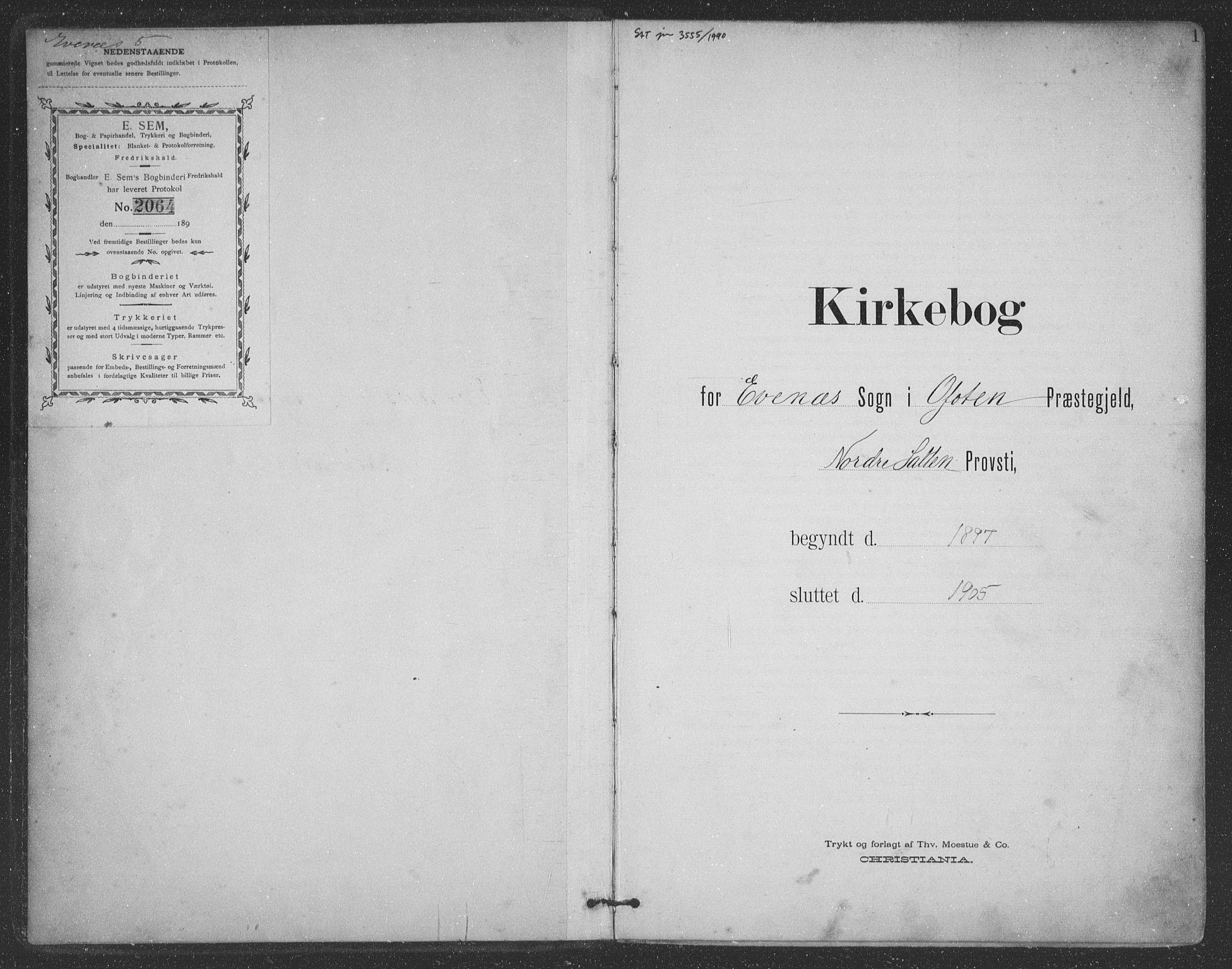 SAT, Ministerialprotokoller, klokkerbøker og fødselsregistre - Nordland, 863/L0899: Ministerialbok nr. 863A11, 1897-1906, s. 1