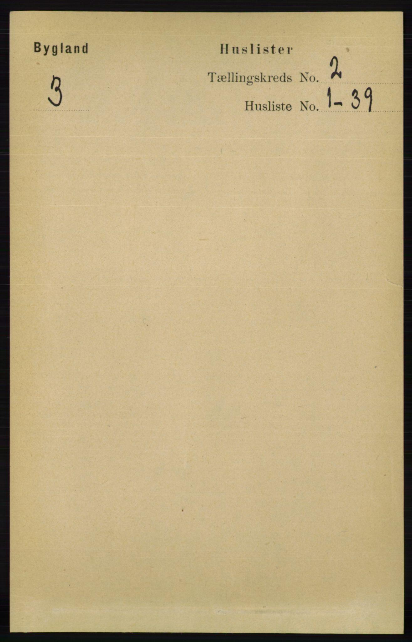 RA, Folketelling 1891 for 0938 Bygland herred, 1891, s. 213