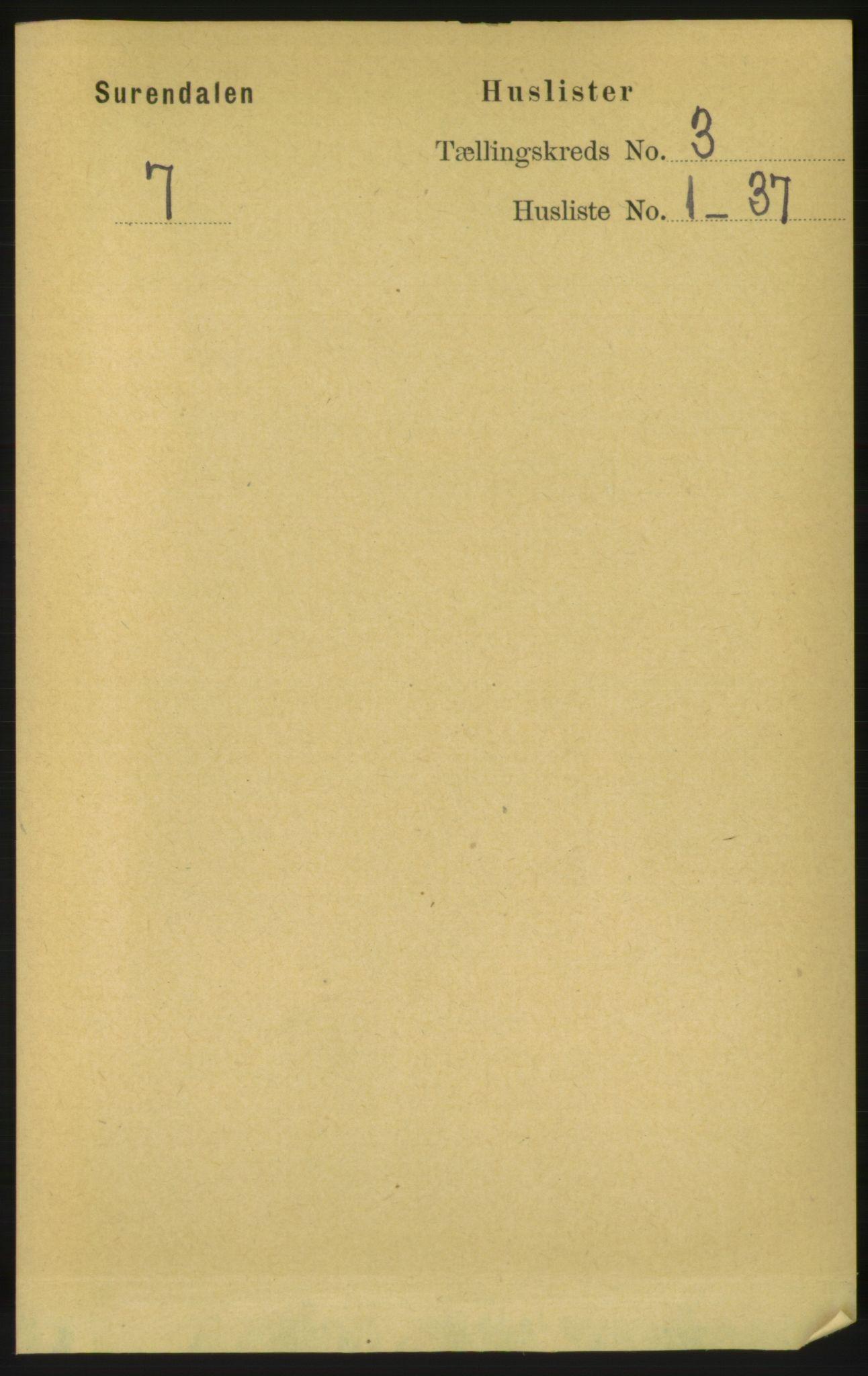 RA, Folketelling 1891 for 1566 Surnadal herred, 1891, s. 744