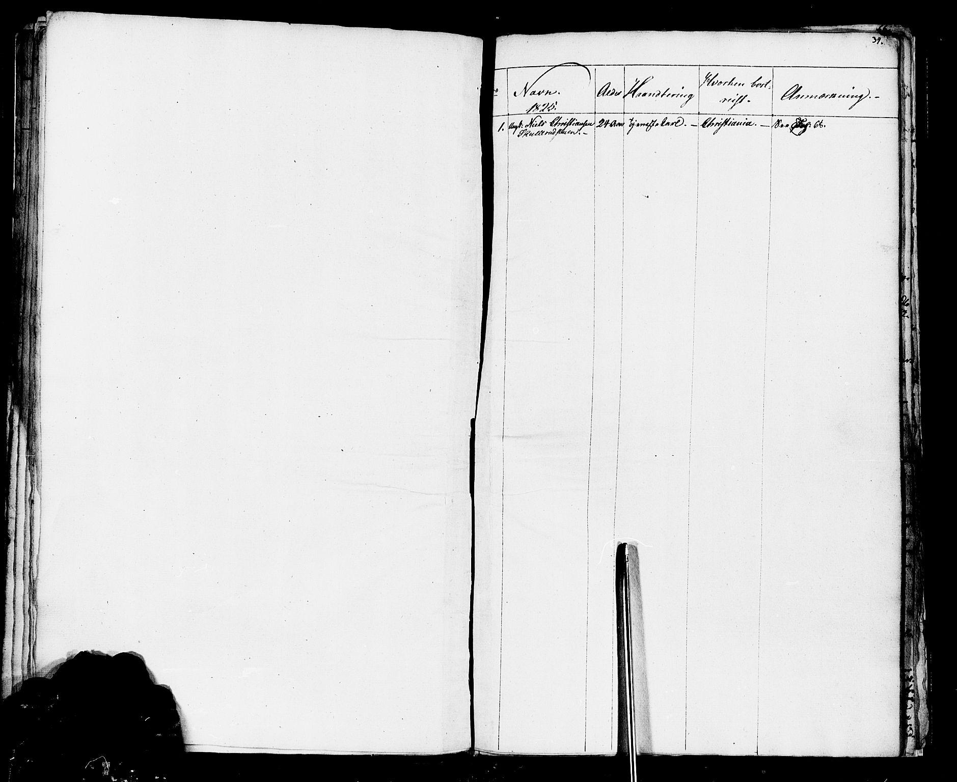 SAH, Vestre Toten prestekontor, H/Ha/Haa/L0001: Ministerialbok nr. 1, 1825-1826, s. 39