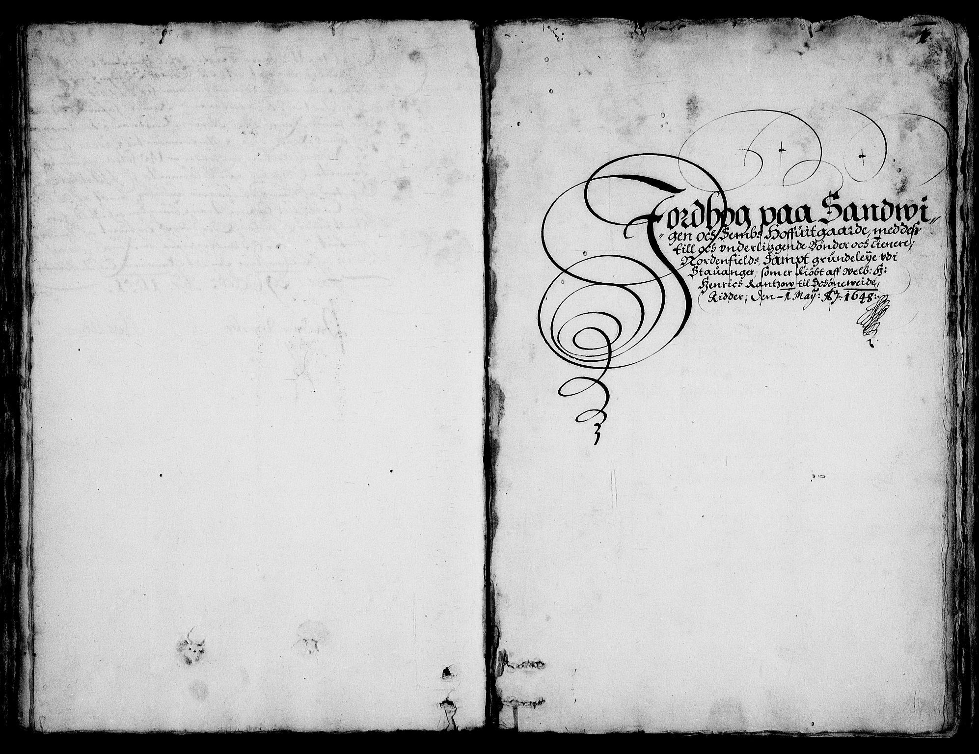 RA, Rentekammeret inntil 1814, Realistisk ordnet avdeling, On/L0001: Statens gods, 1651, s. 1001a