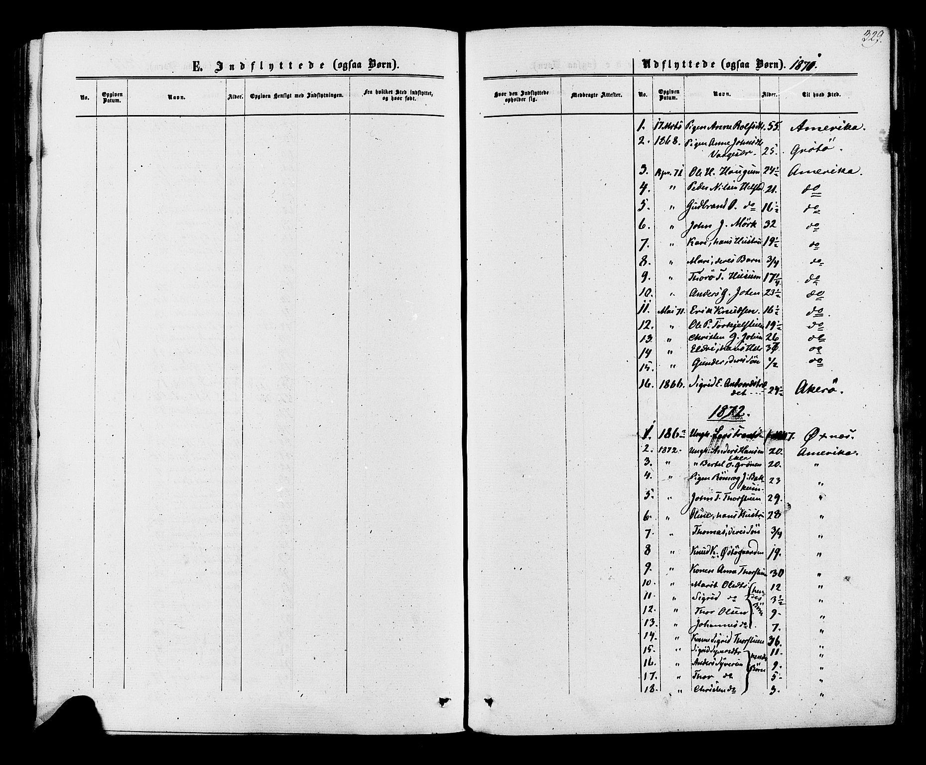 SAH, Lom prestekontor, K/L0007: Ministerialbok nr. 7, 1863-1884, s. 329