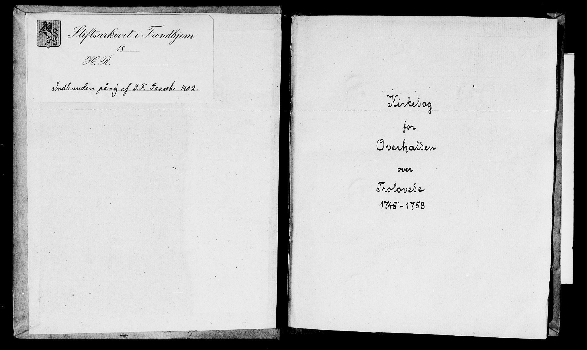 SAT, Ministerialprotokoller, klokkerbøker og fødselsregistre - Nord-Trøndelag, 764/L0541: Ministerialbok nr. 764A01, 1745-1758