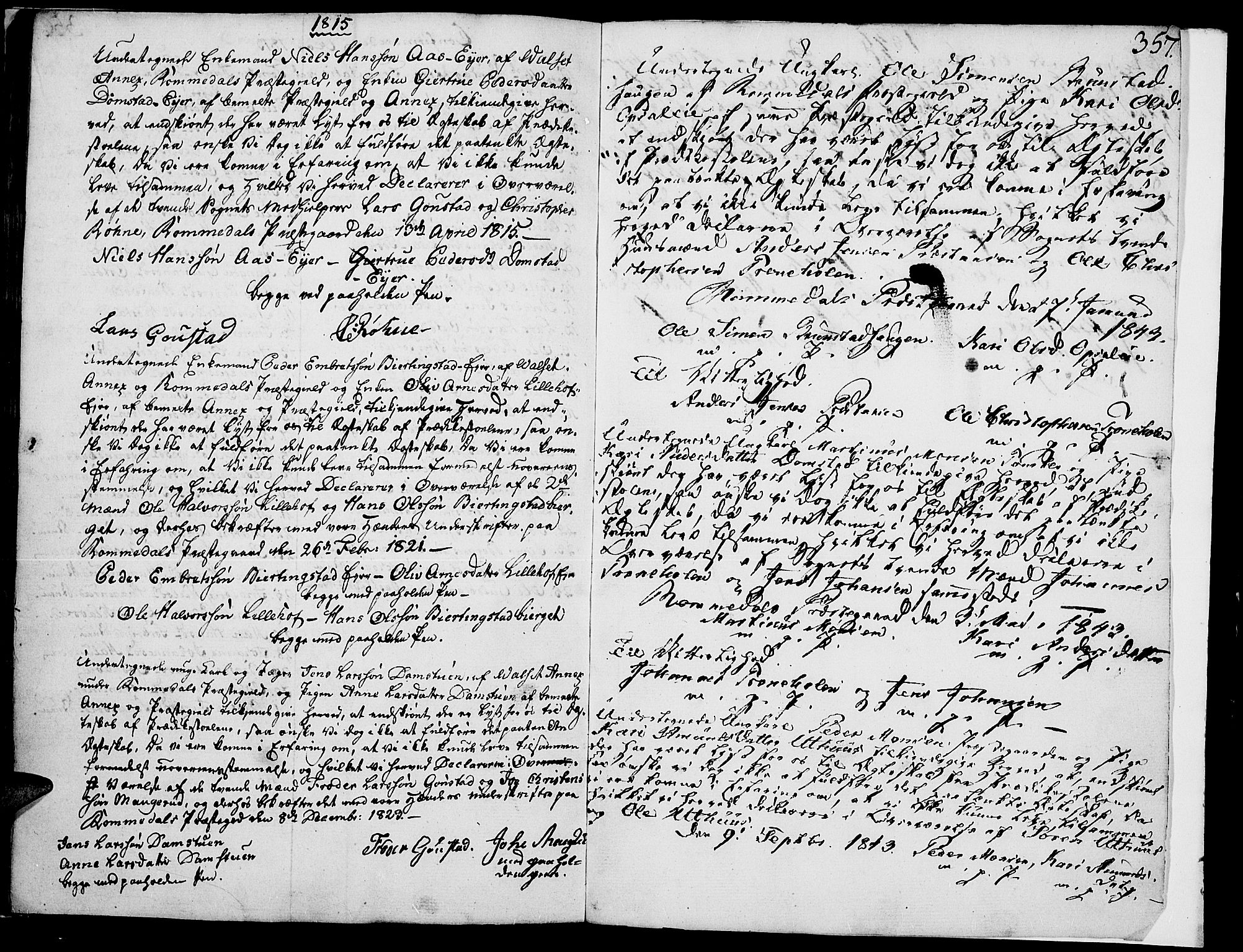 SAH, Romedal prestekontor, K/L0001: Ministerialbok nr. 1, 1799-1814, s. 357