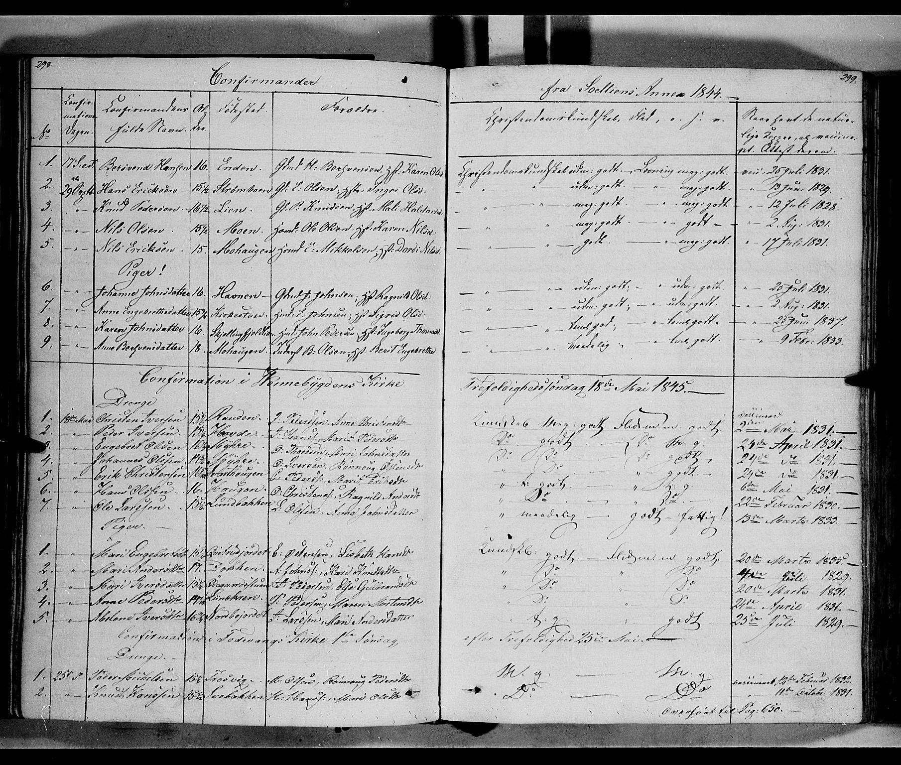 SAH, Ringebu prestekontor, Ministerialbok nr. 5, 1839-1848, s. 298-299