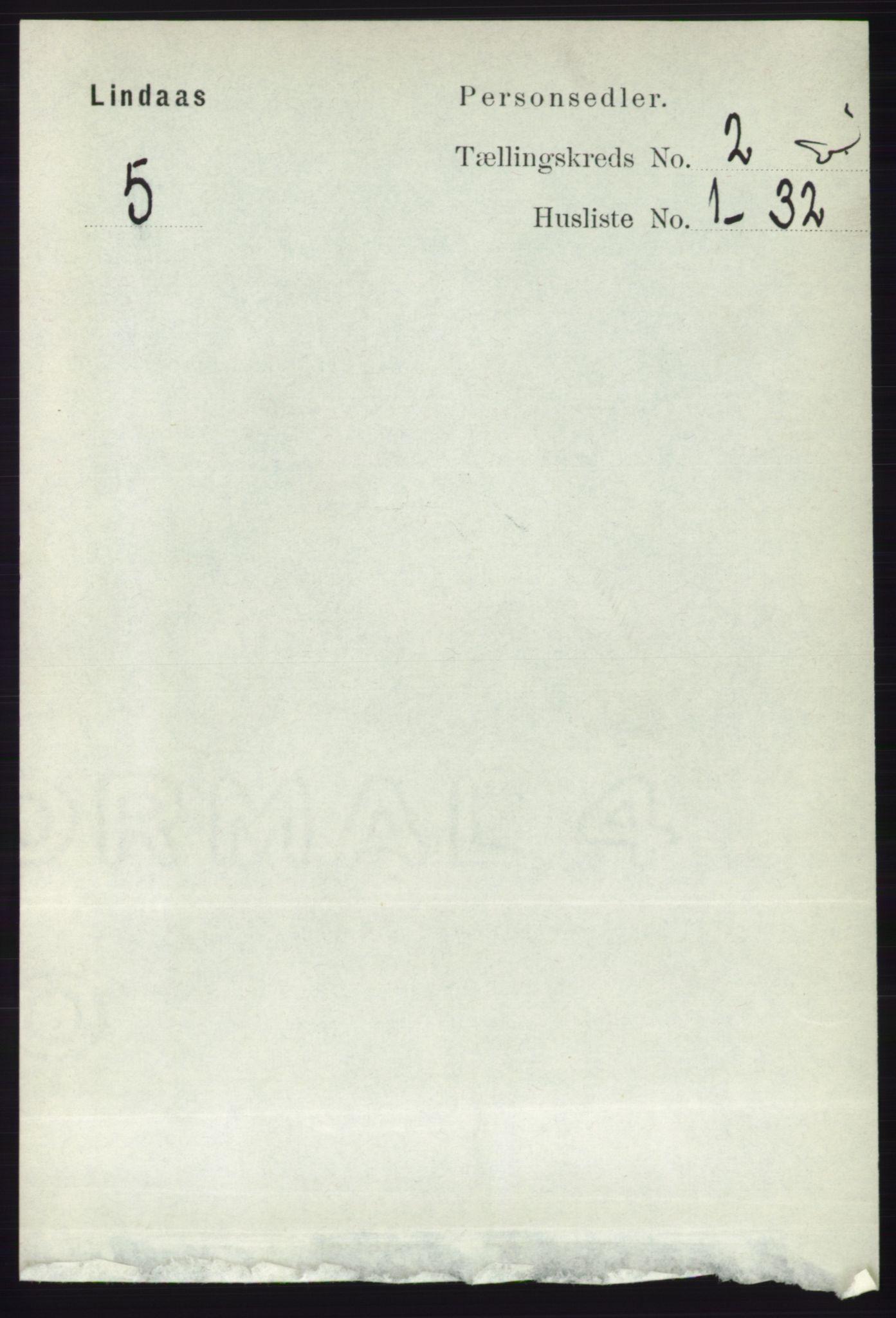 RA, Folketelling 1891 for 1263 Lindås herred, 1891, s. 428