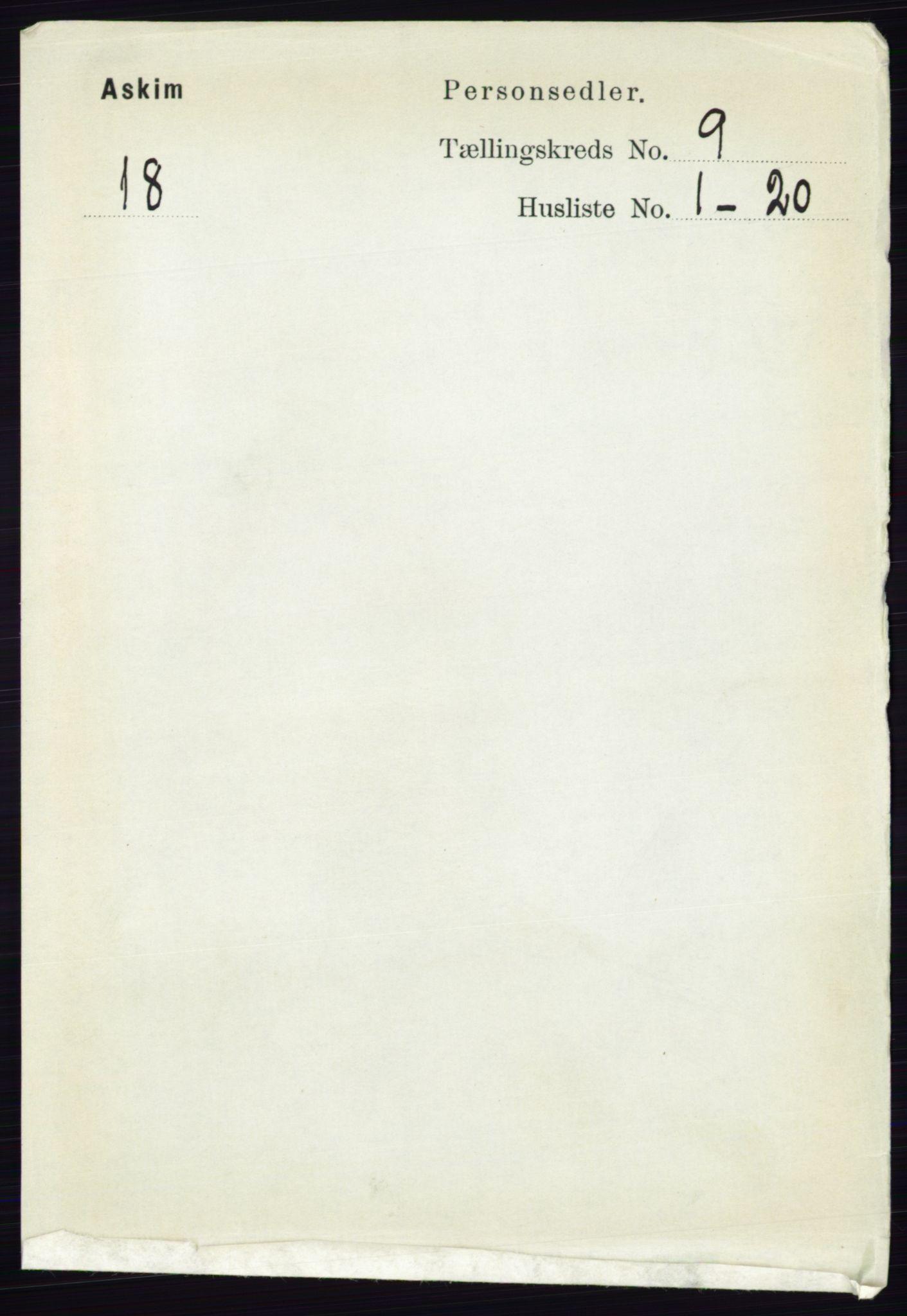RA, Folketelling 1891 for 0124 Askim herred, 1891, s. 1463