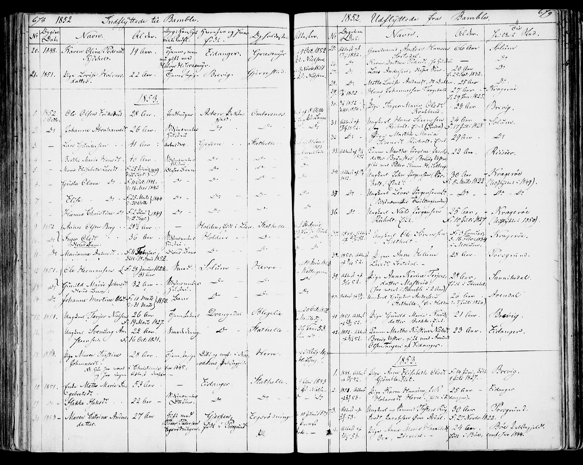 SAKO, Bamble kirkebøker, F/Fa/L0004: Ministerialbok nr. I 4, 1834-1853, s. 678-679