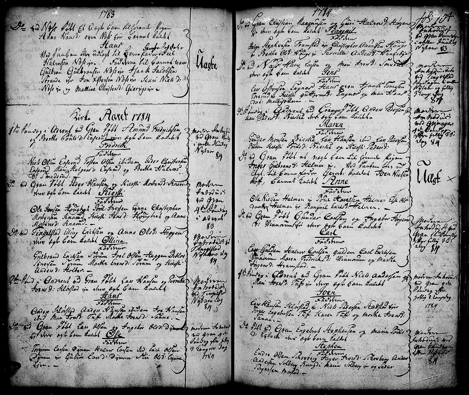 SAH, Gran prestekontor, Ministerialbok nr. 5, 1776-1788, s. 104