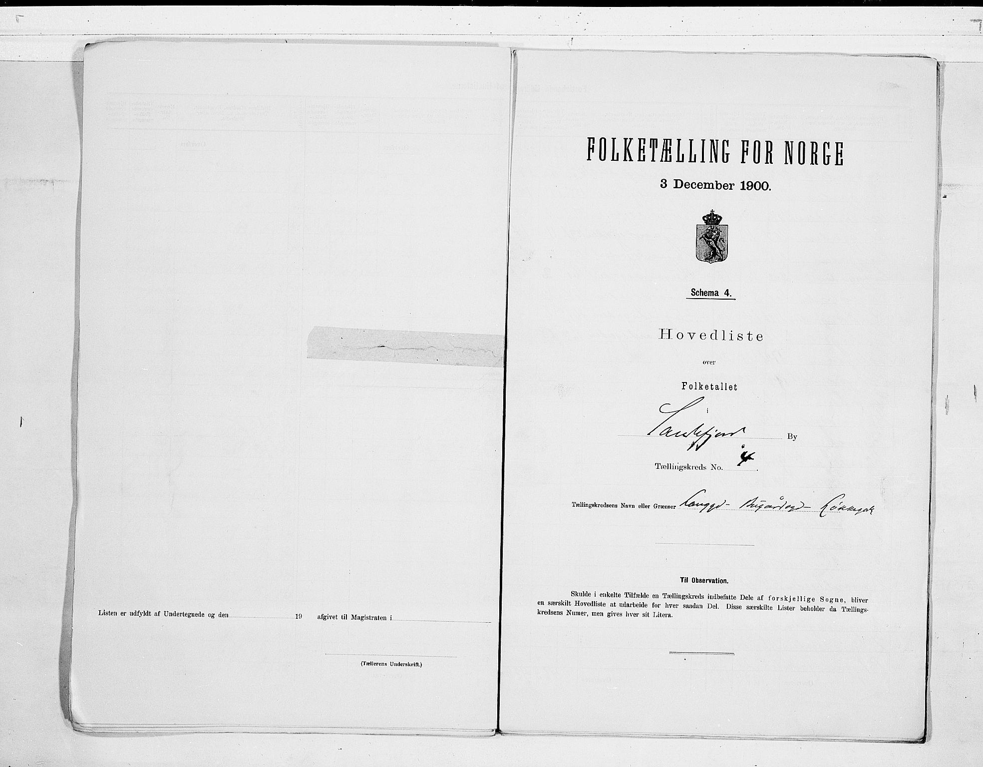RA, Folketelling 1900 for 0706 Sandefjord kjøpstad, 1900, s. 10
