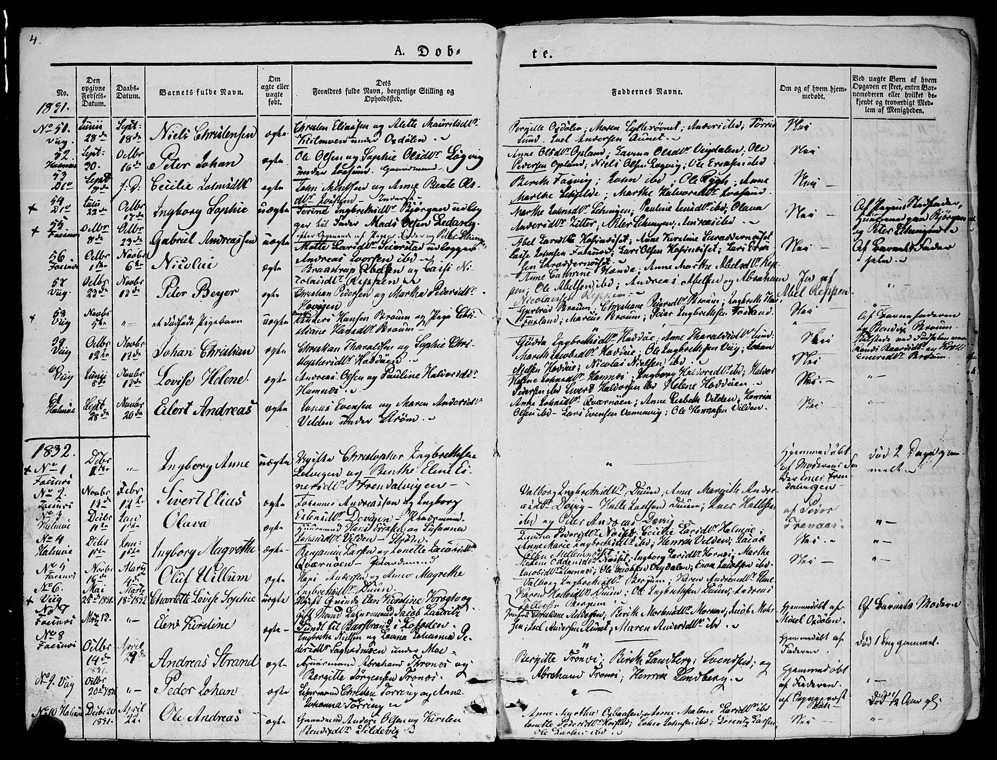 SAT, Ministerialprotokoller, klokkerbøker og fødselsregistre - Nord-Trøndelag, 773/L0614: Ministerialbok nr. 773A05, 1831-1856, s. 4