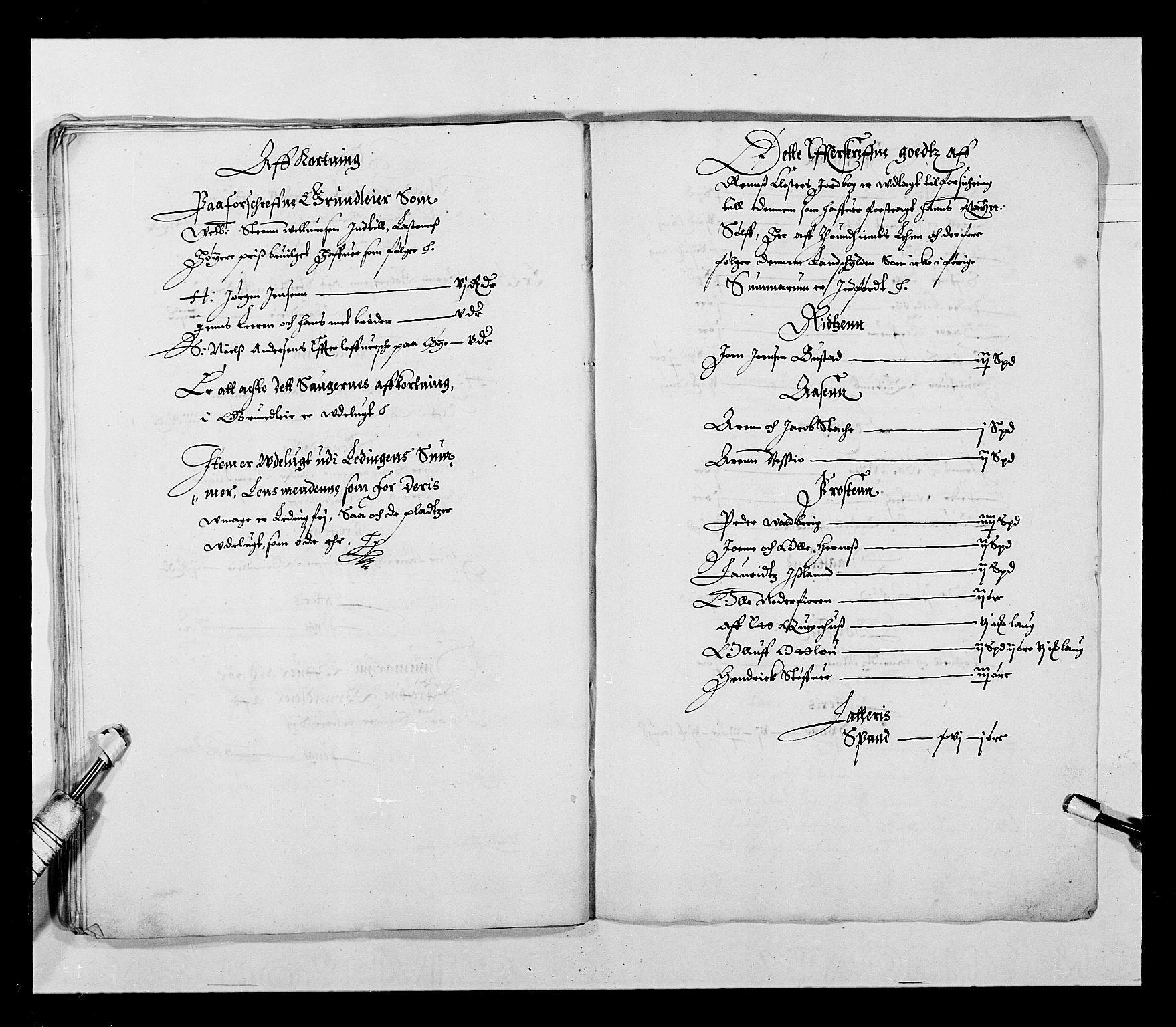RA, Stattholderembetet 1572-1771, Ek/L0027: Jordebøker 1633-1658:, 1644-1645, s. 33