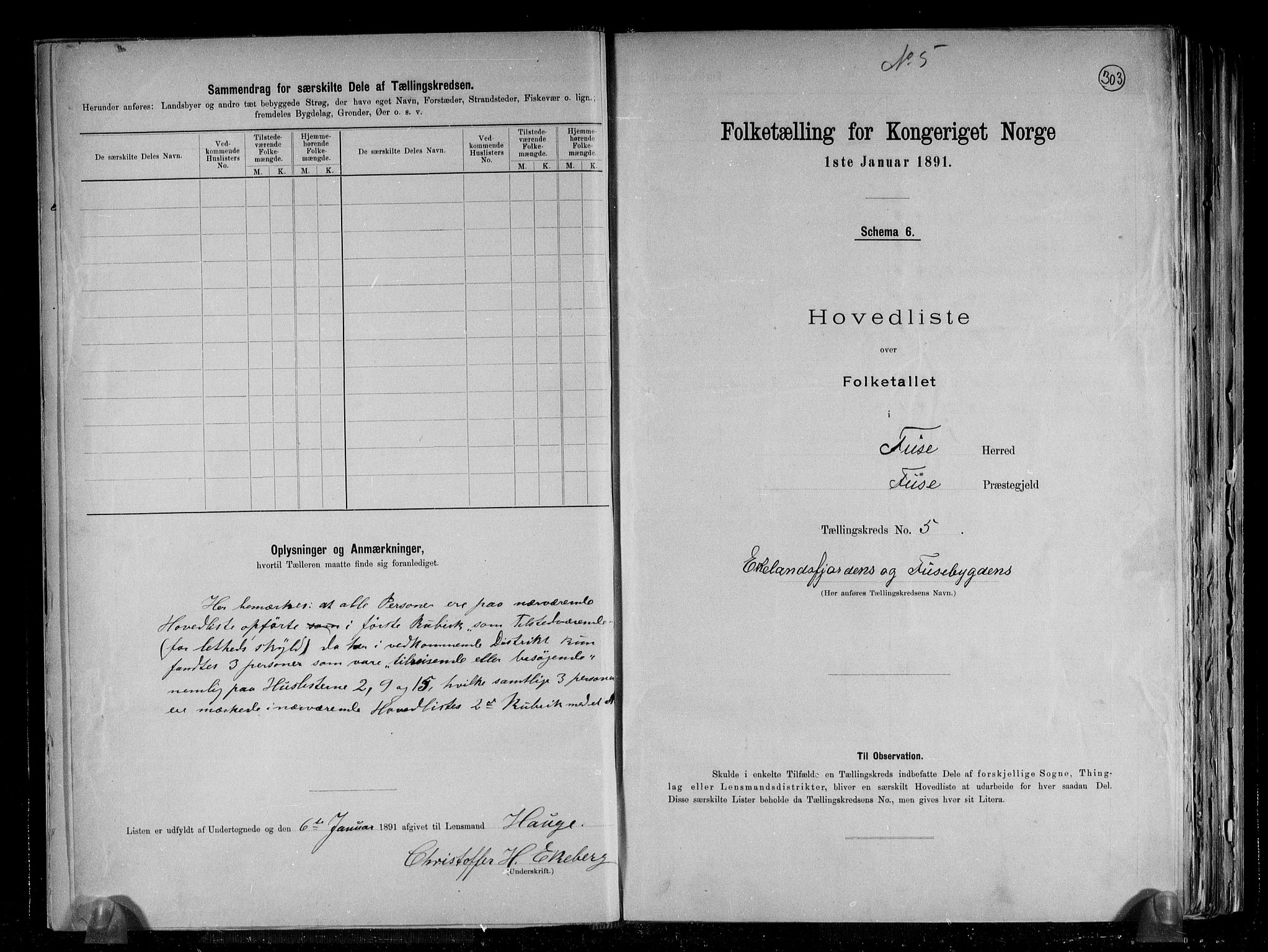 RA, Folketelling 1891 for 1241 Fusa herred, 1891, s. 12
