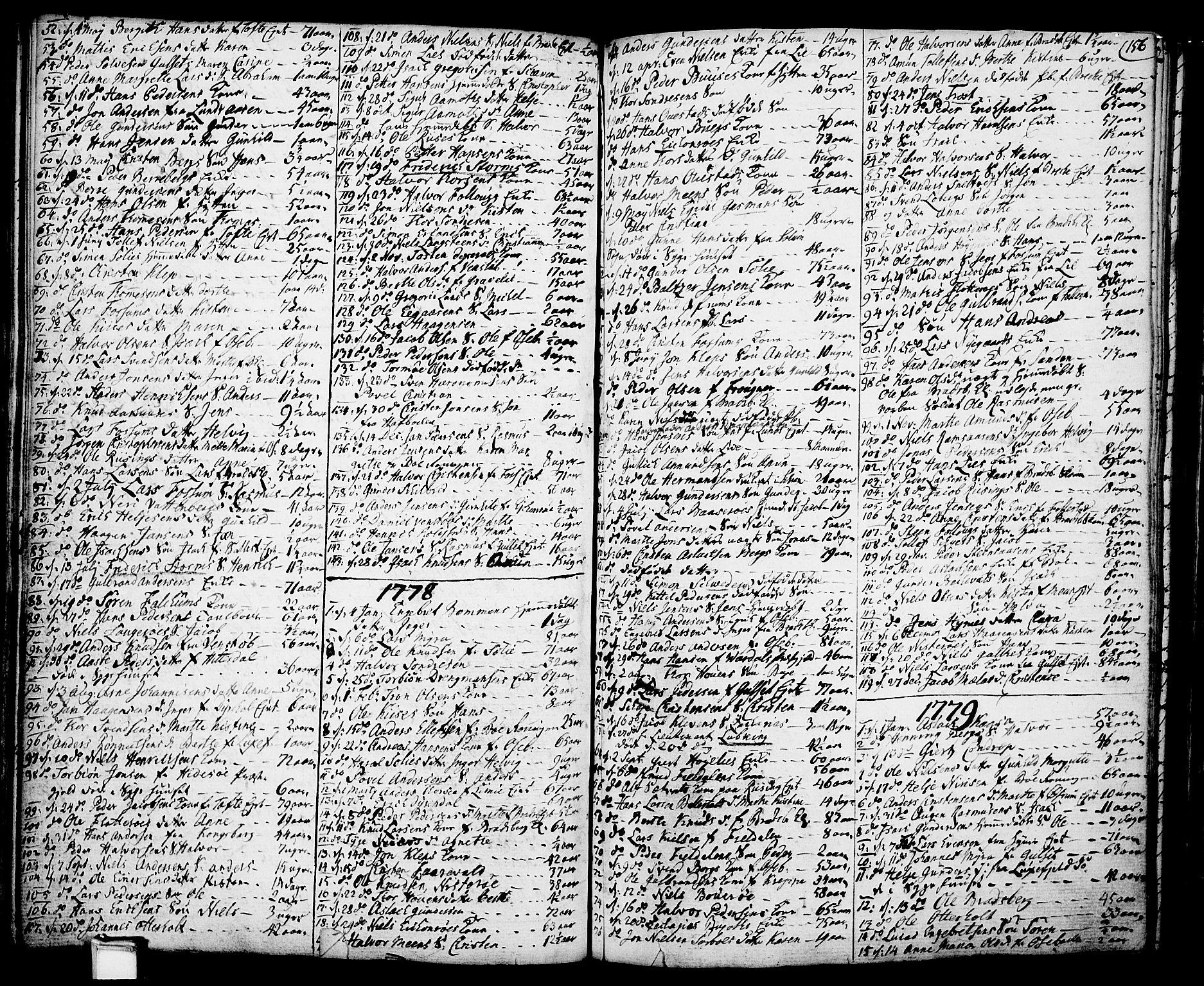 SAKO, Gjerpen kirkebøker, F/Fa/L0002: Ministerialbok nr. 2, 1747-1795, s. 156
