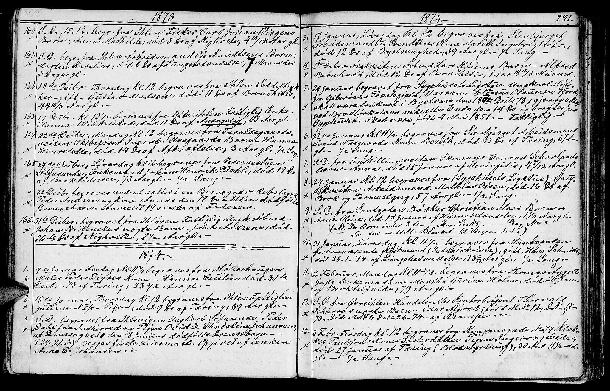 SAT, Ministerialprotokoller, klokkerbøker og fødselsregistre - Sør-Trøndelag, 602/L0142: Klokkerbok nr. 602C10, 1872-1894, s. 291