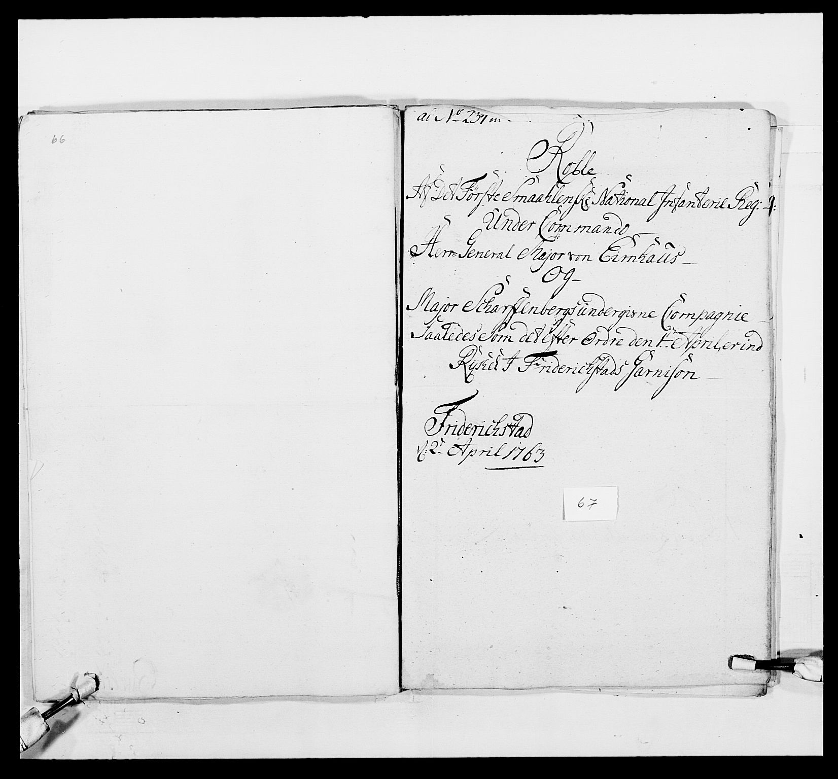 RA, Kommanderende general (KG I) med Det norske krigsdirektorium, E/Ea/L0495: 1. Smålenske regiment, 1732-1763, s. 844