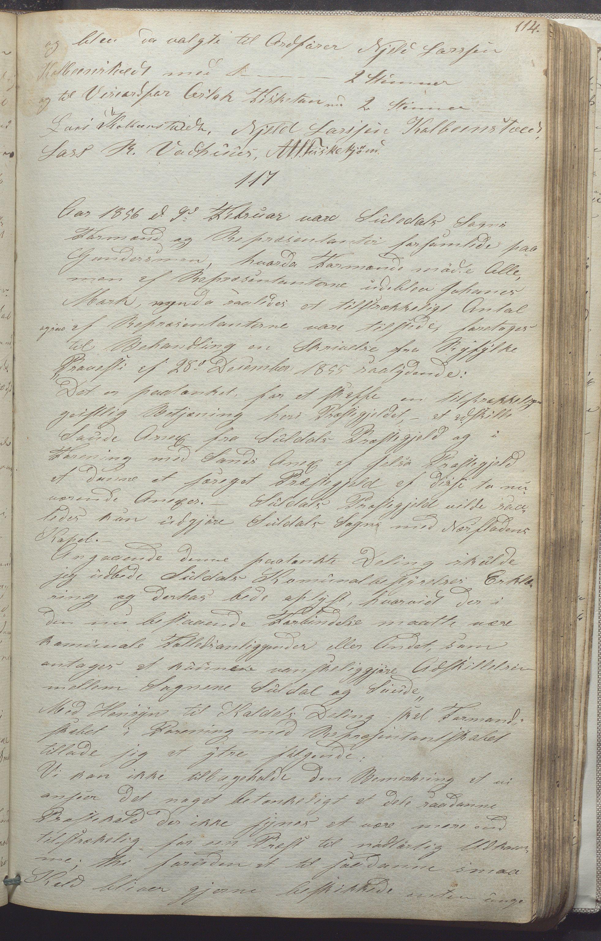 IKAR, Suldal kommune - Formannskapet/Rådmannen, A/Aa/L0001: Møtebok, 1837-1876, s. 114a