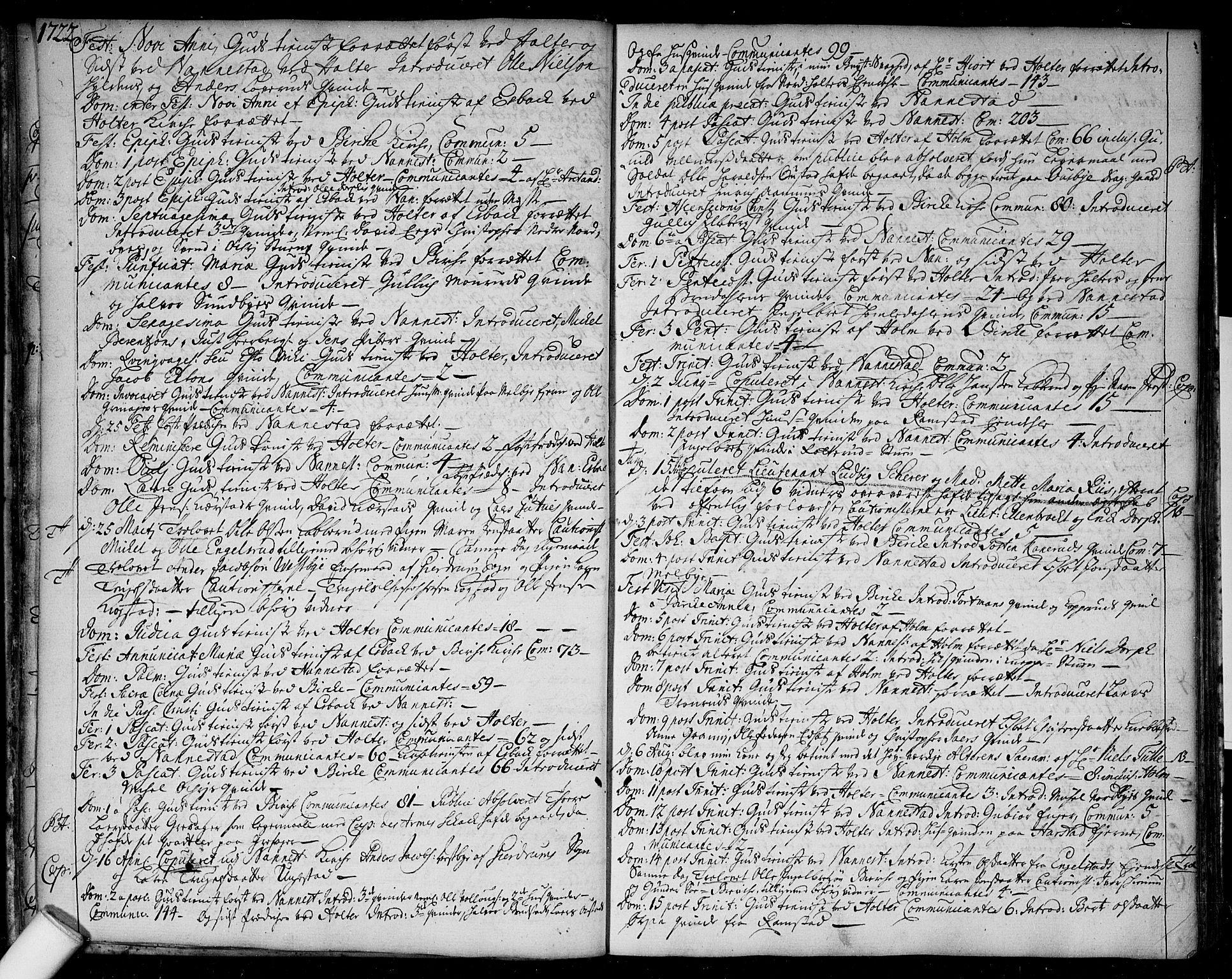 SAO, Nannestad prestekontor Kirkebøker, F/Fa/L0004: Ministerialbok nr. I 4, 1716-1753