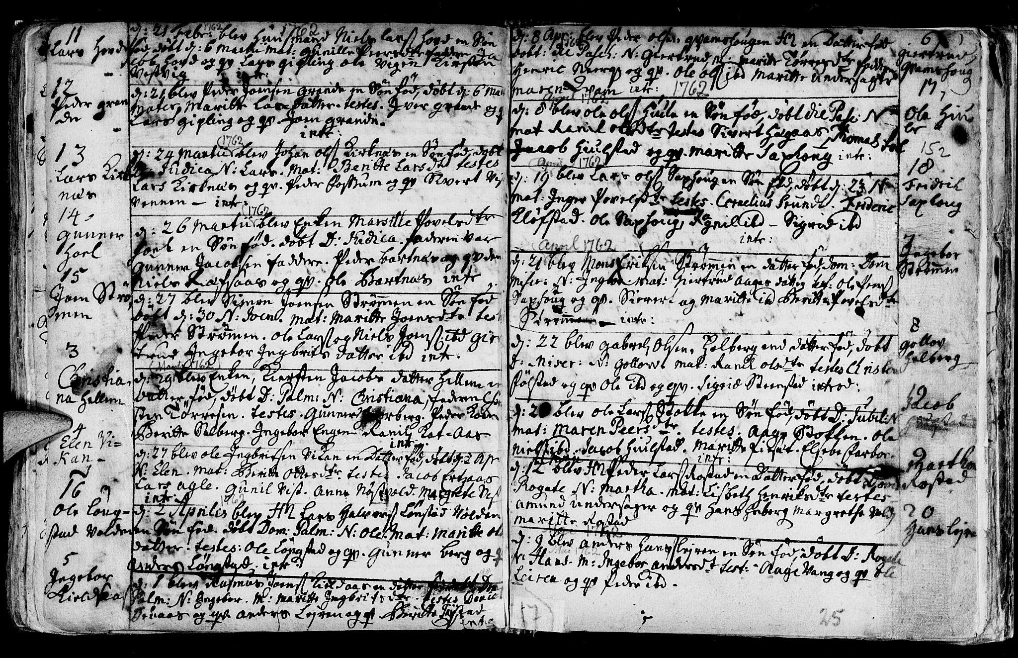 SAT, Ministerialprotokoller, klokkerbøker og fødselsregistre - Nord-Trøndelag, 730/L0272: Ministerialbok nr. 730A01, 1733-1764, s. 152