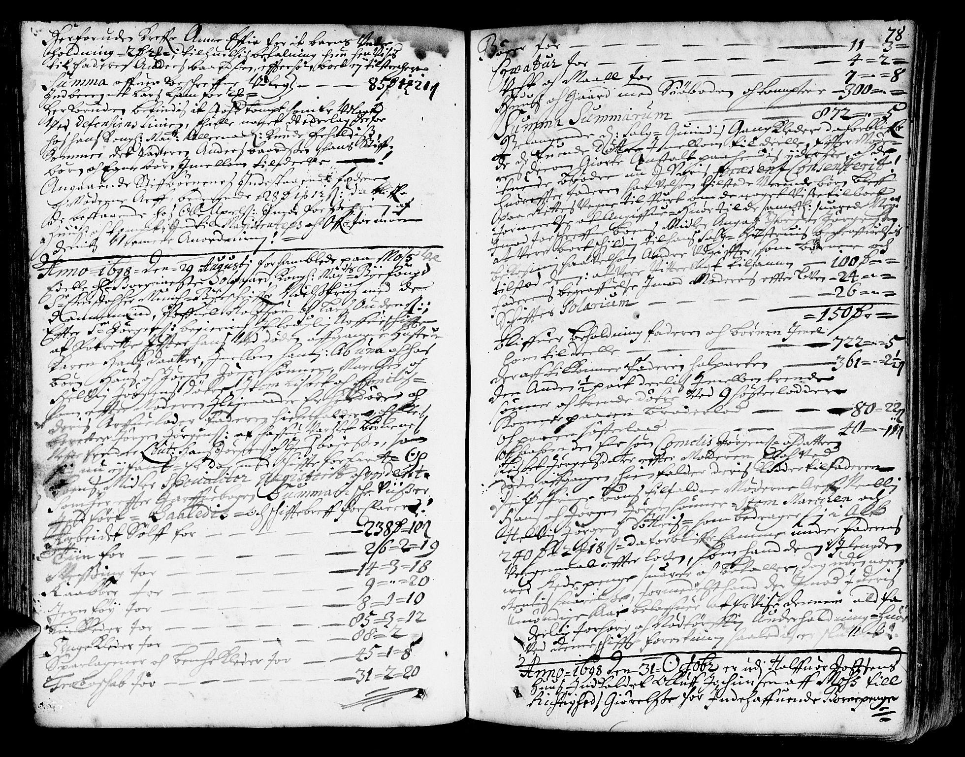 SAO, Fredrikstad byfogd, H/Hb/L0003: Skifteprotokoll, 1694-1723, s. 77b-78a