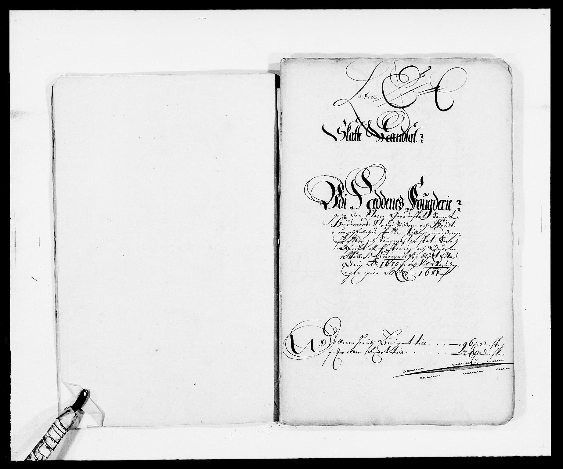 RA, Rentekammeret inntil 1814, Reviderte regnskaper, Fogderegnskap, R39/L2304: Fogderegnskap Nedenes, 1680-1682, s. 57