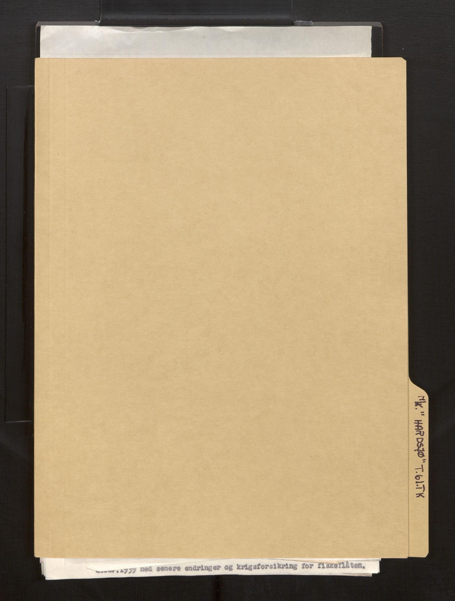 SAB, Fiskeridirektoratet - 1 Adm. ledelse - 13 Båtkontoret, La/L0042: Statens krigsforsikring for fiskeflåten, 1936-1971, s. 825