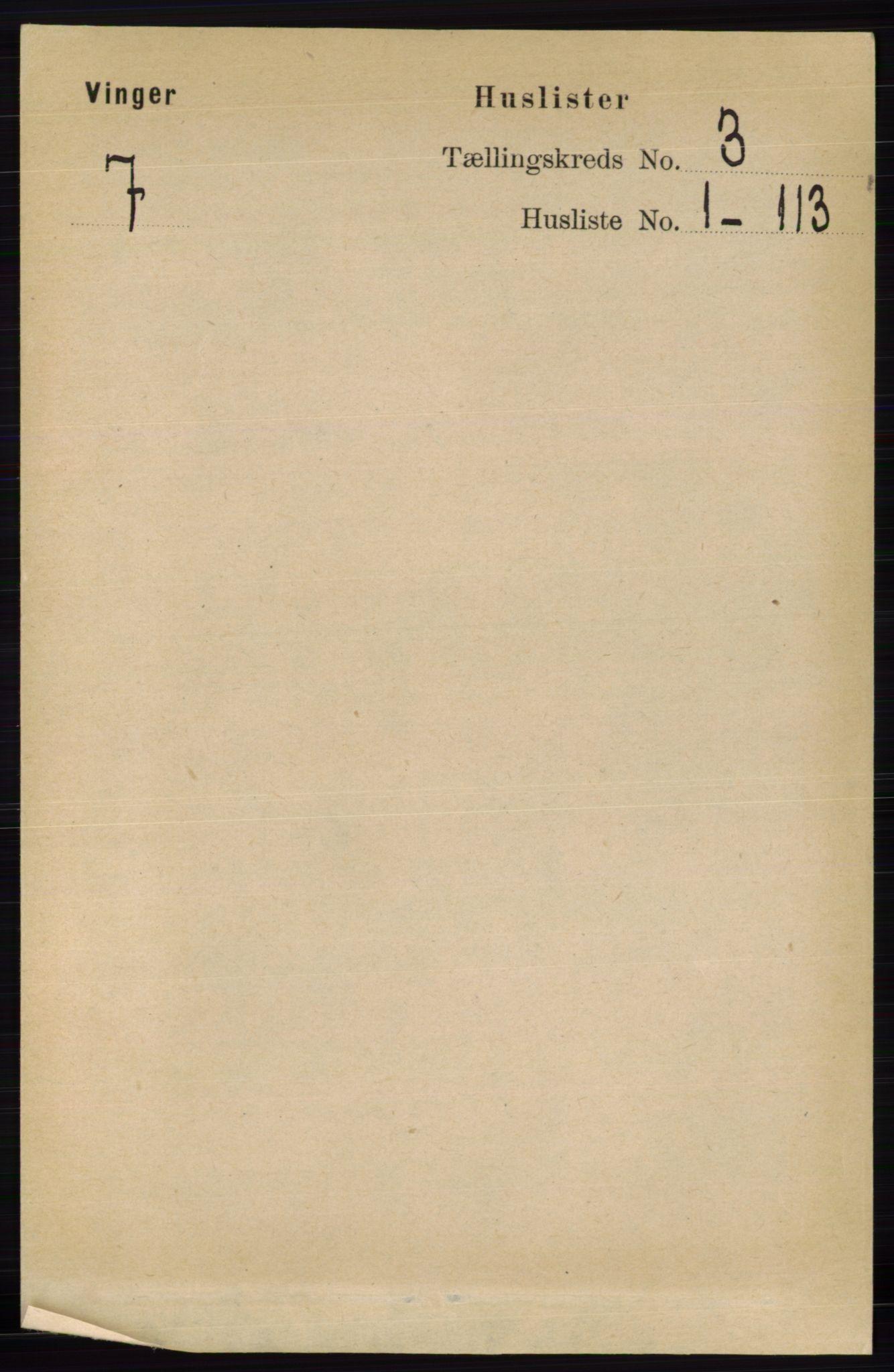 RA, Folketelling 1891 for 0421 Vinger herred, 1891, s. 778