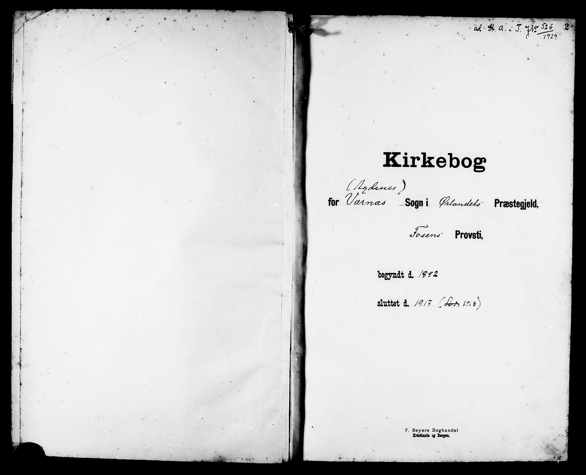 SAT, Ministerialprotokoller, klokkerbøker og fødselsregistre - Sør-Trøndelag, 662/L0757: Klokkerbok nr. 662C02, 1892-1918, s. 2