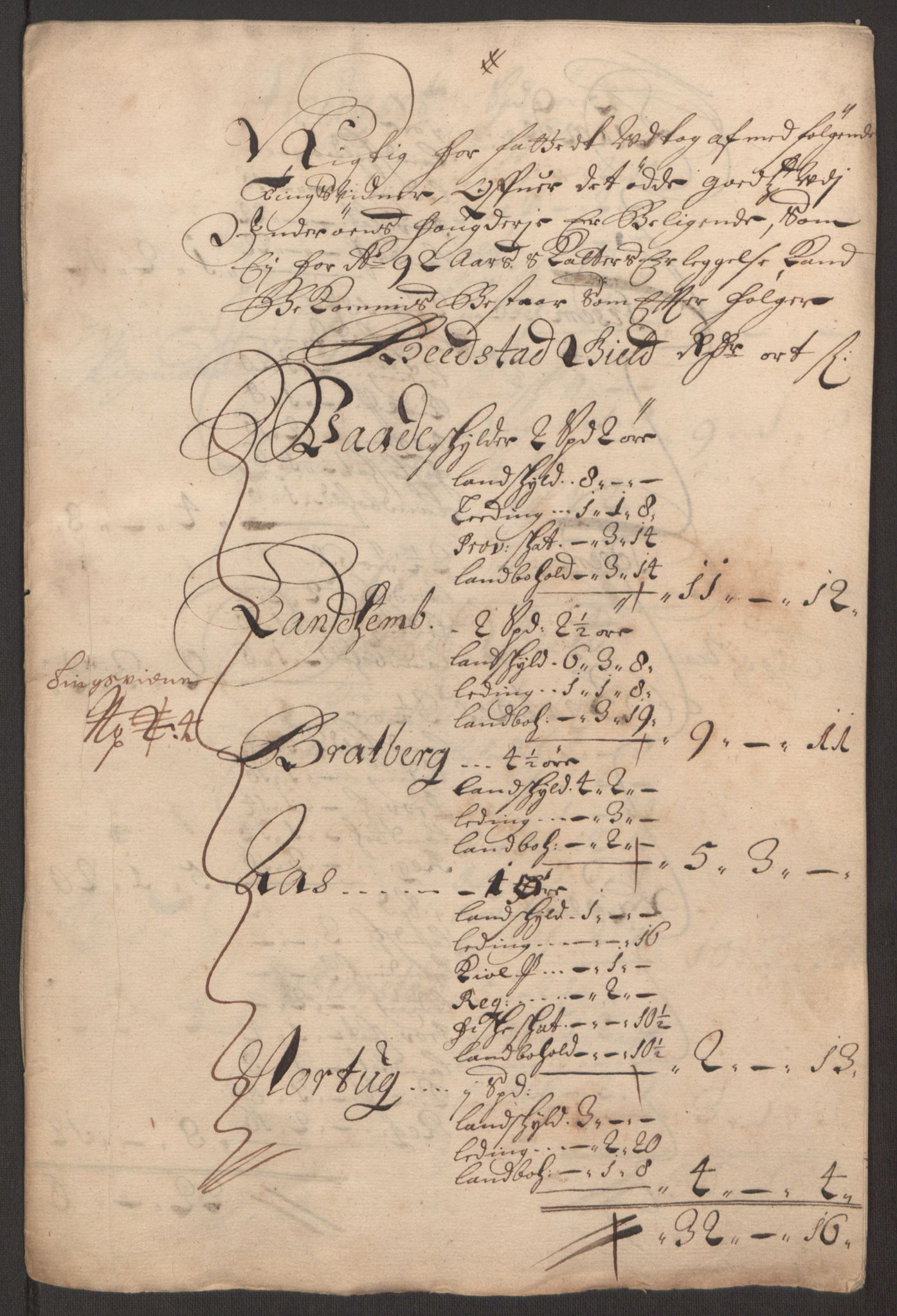 RA, Rentekammeret inntil 1814, Reviderte regnskaper, Fogderegnskap, R63/L4308: Fogderegnskap Inderøy, 1692-1694, s. 221
