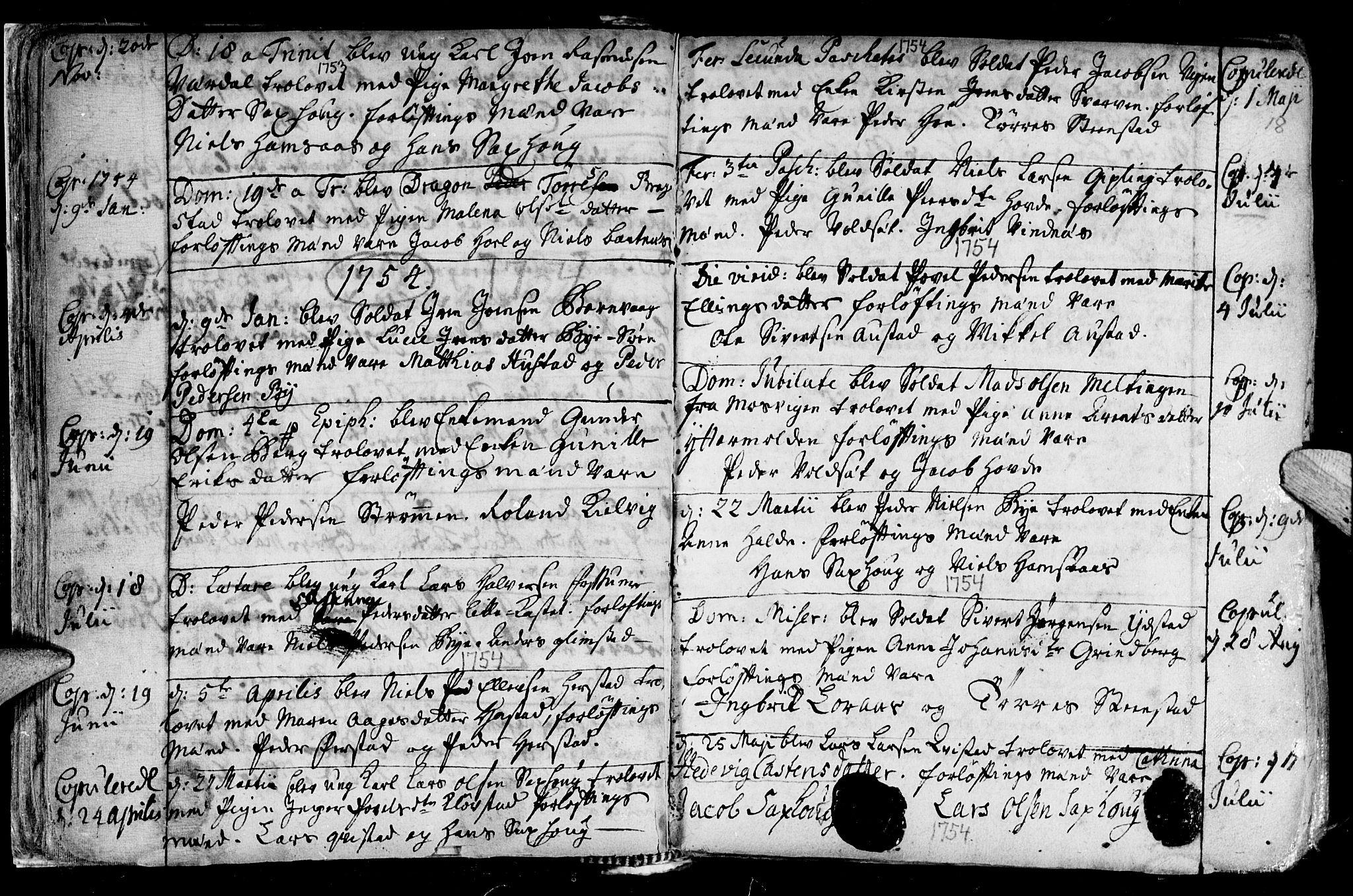 SAT, Ministerialprotokoller, klokkerbøker og fødselsregistre - Nord-Trøndelag, 730/L0272: Ministerialbok nr. 730A01, 1733-1764, s. 18