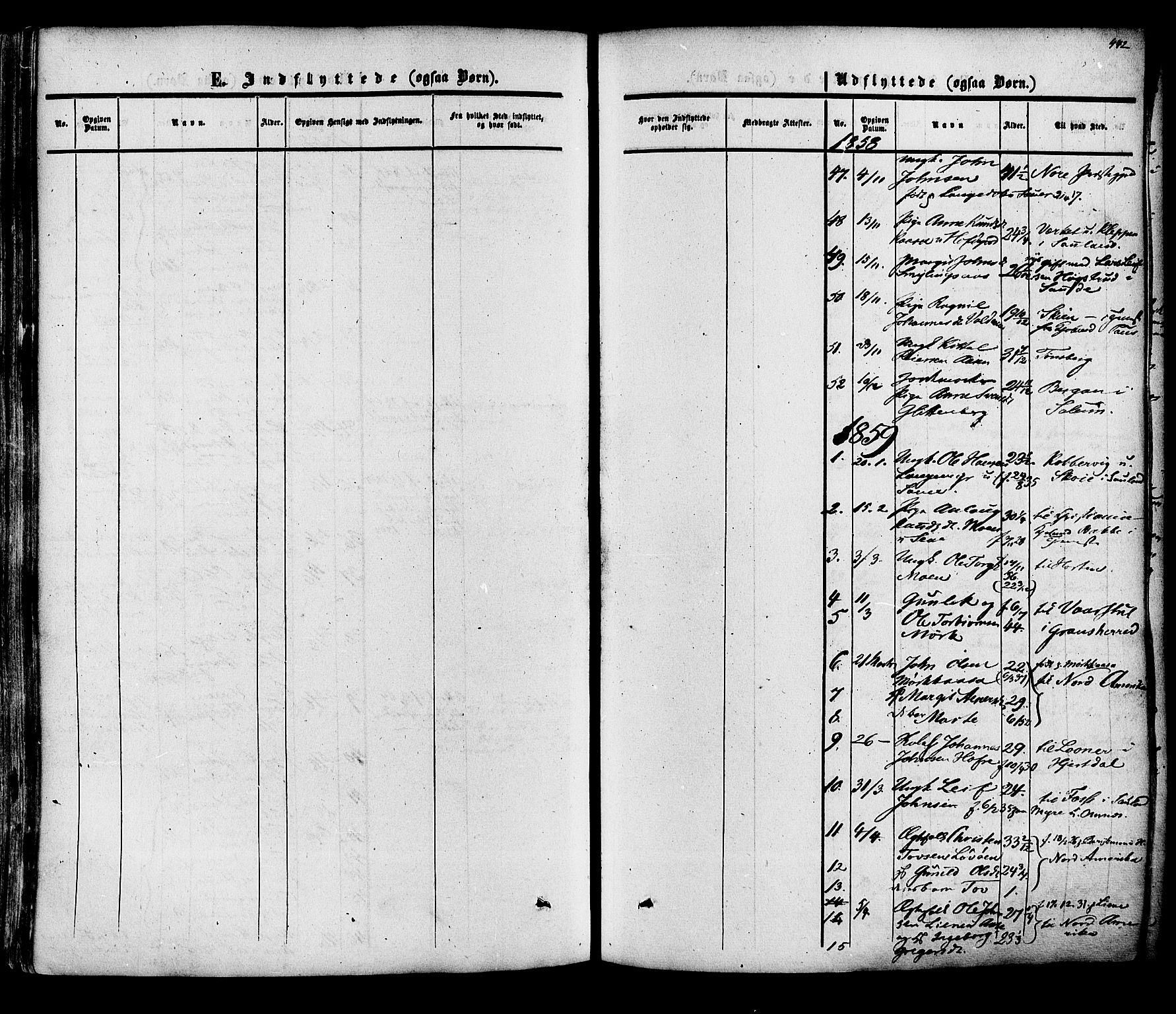 SAKO, Heddal kirkebøker, F/Fa/L0007: Ministerialbok nr. I 7, 1855-1877, s. 442