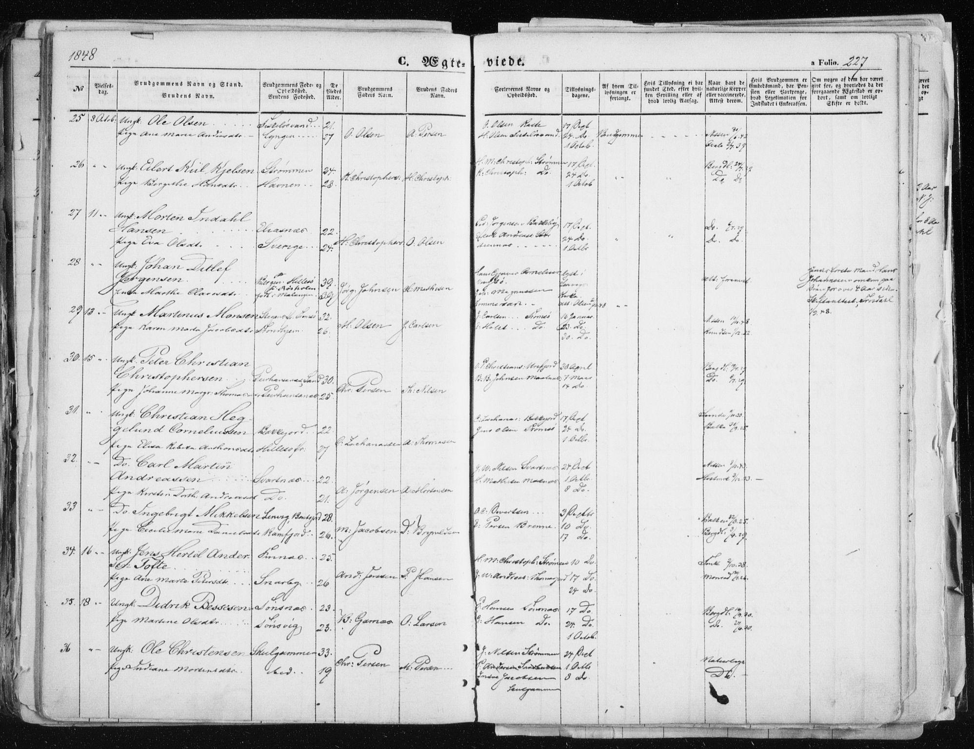 SATØ, Tromsø sokneprestkontor/stiftsprosti/domprosti, G/Ga/L0010kirke: Ministerialbok nr. 10, 1848-1855, s. 227