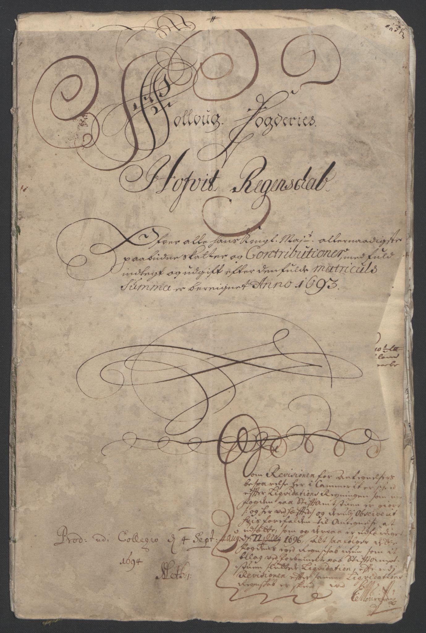 RA, Rentekammeret inntil 1814, Reviderte regnskaper, Fogderegnskap, R09/L0437: Fogderegnskap Follo, 1692-1693, s. 221