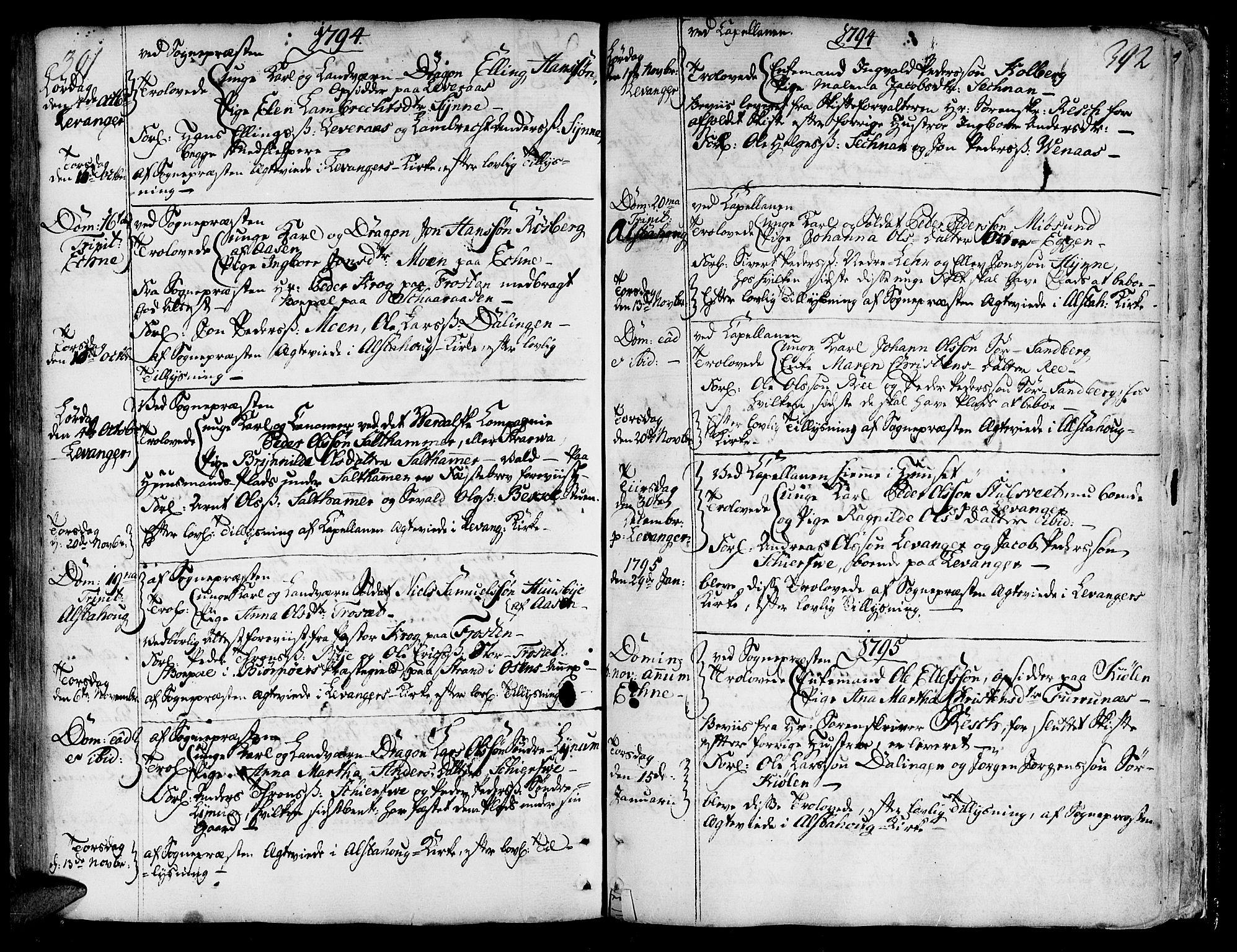 SAT, Ministerialprotokoller, klokkerbøker og fødselsregistre - Nord-Trøndelag, 717/L0141: Ministerialbok nr. 717A01, 1747-1803, s. 391-392