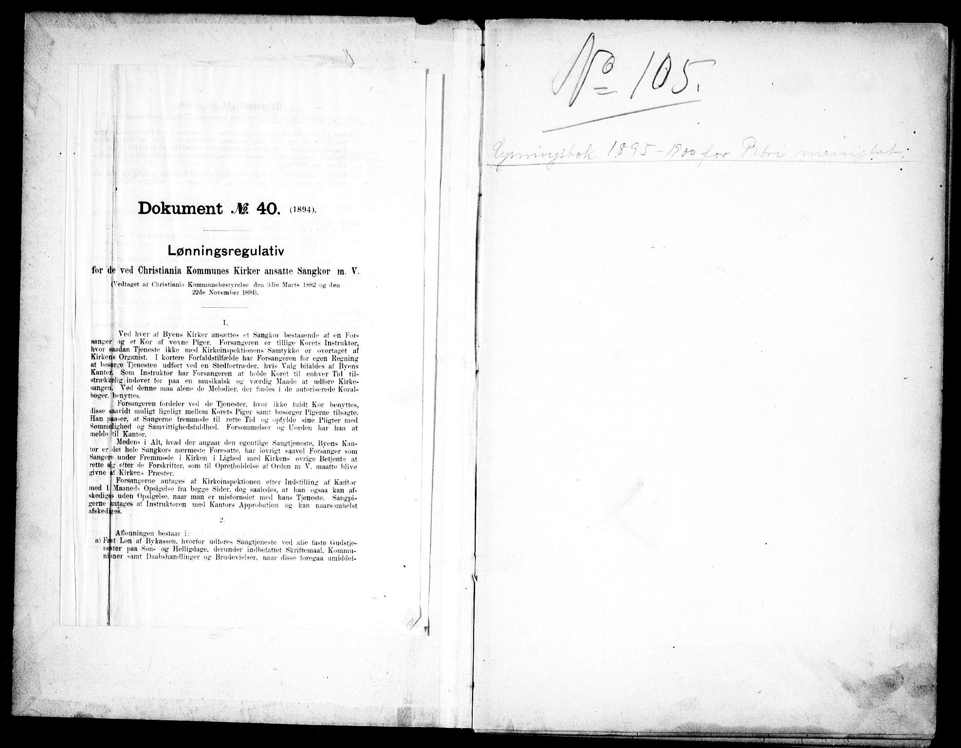 SAO, Petrus prestekontor Kirkebøker, H/Ha/L0002: Lysningsprotokoll nr. 2, 1895-1900