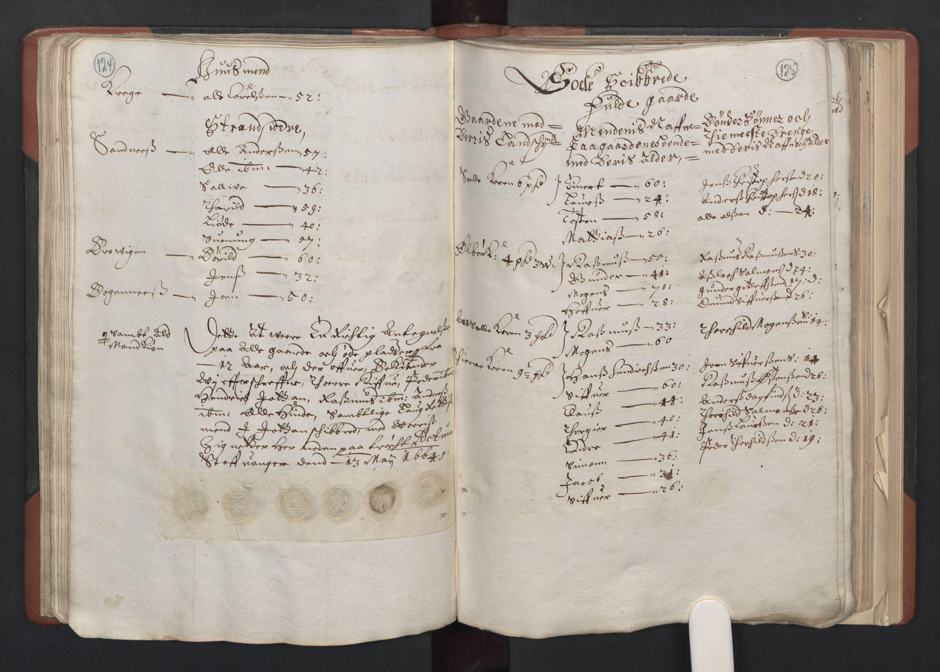 RA, Fogdenes og sorenskrivernes manntall 1664-1666, nr. 11: Jæren og Dalane fogderi, 1664, s. 124-125