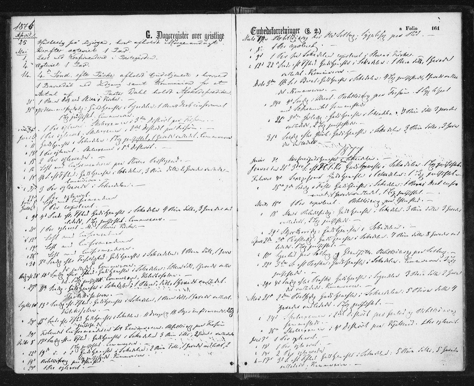 SAT, Ministerialprotokoller, klokkerbøker og fødselsregistre - Sør-Trøndelag, 689/L1039: Ministerialbok nr. 689A04, 1865-1878, s. 161