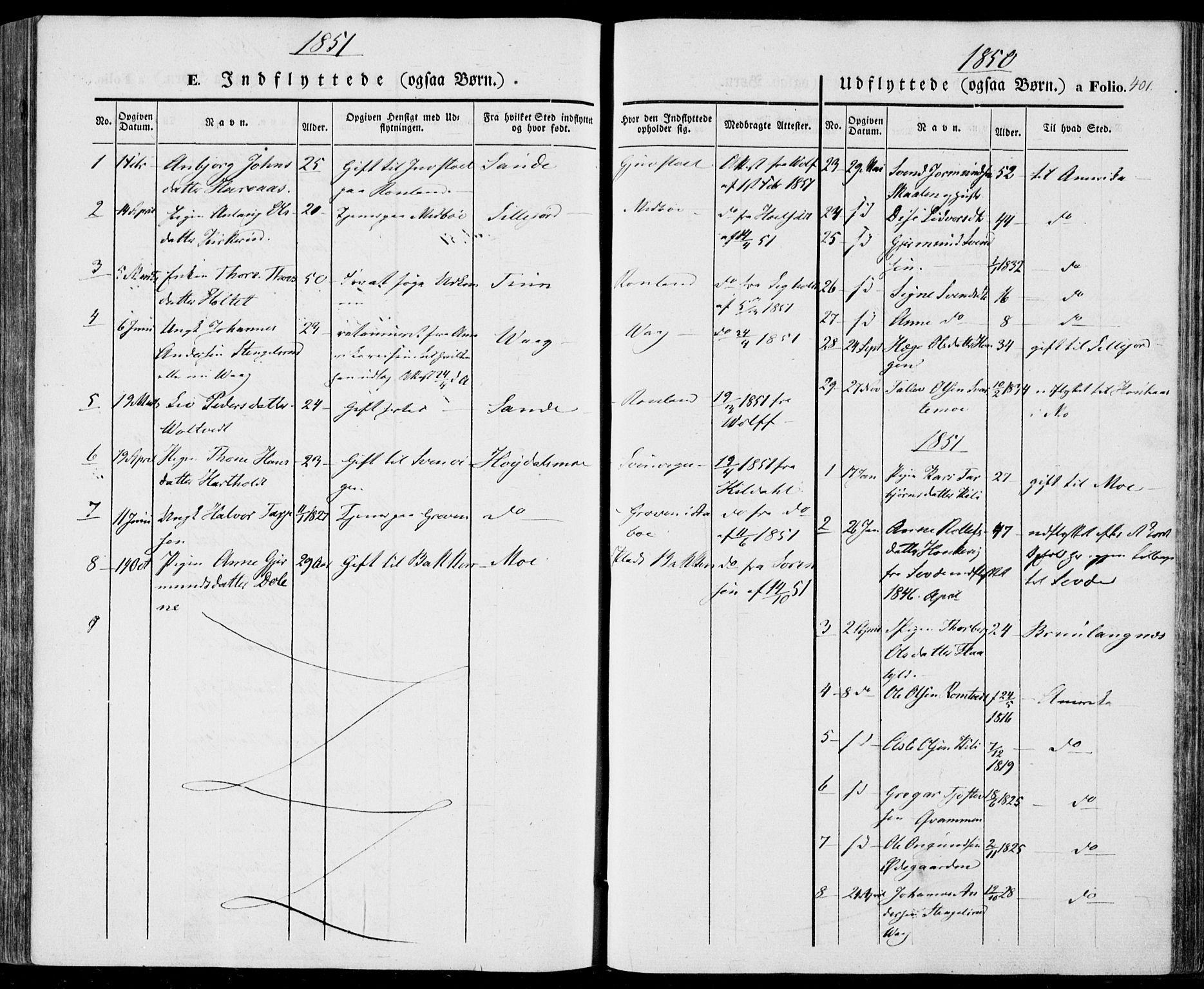 SAKO, Vinje kirkebøker, F/Fa/L0004: Ministerialbok nr. I 4, 1843-1869, s. 401