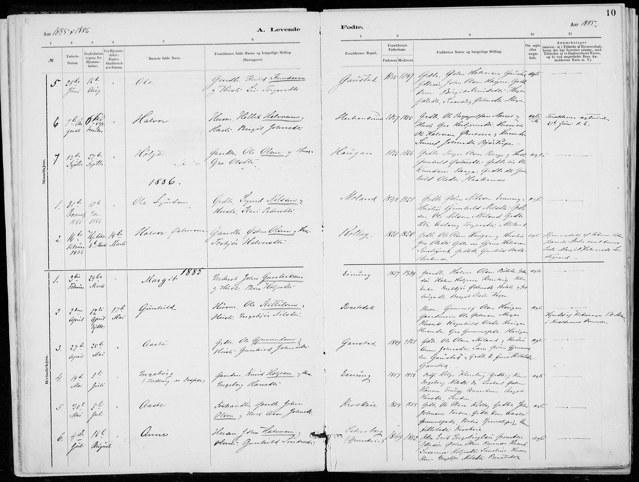 SAKO, Tinn kirkebøker, F/Fb/L0002: Ministerialbok nr. II 2, 1878-1917, s. 10