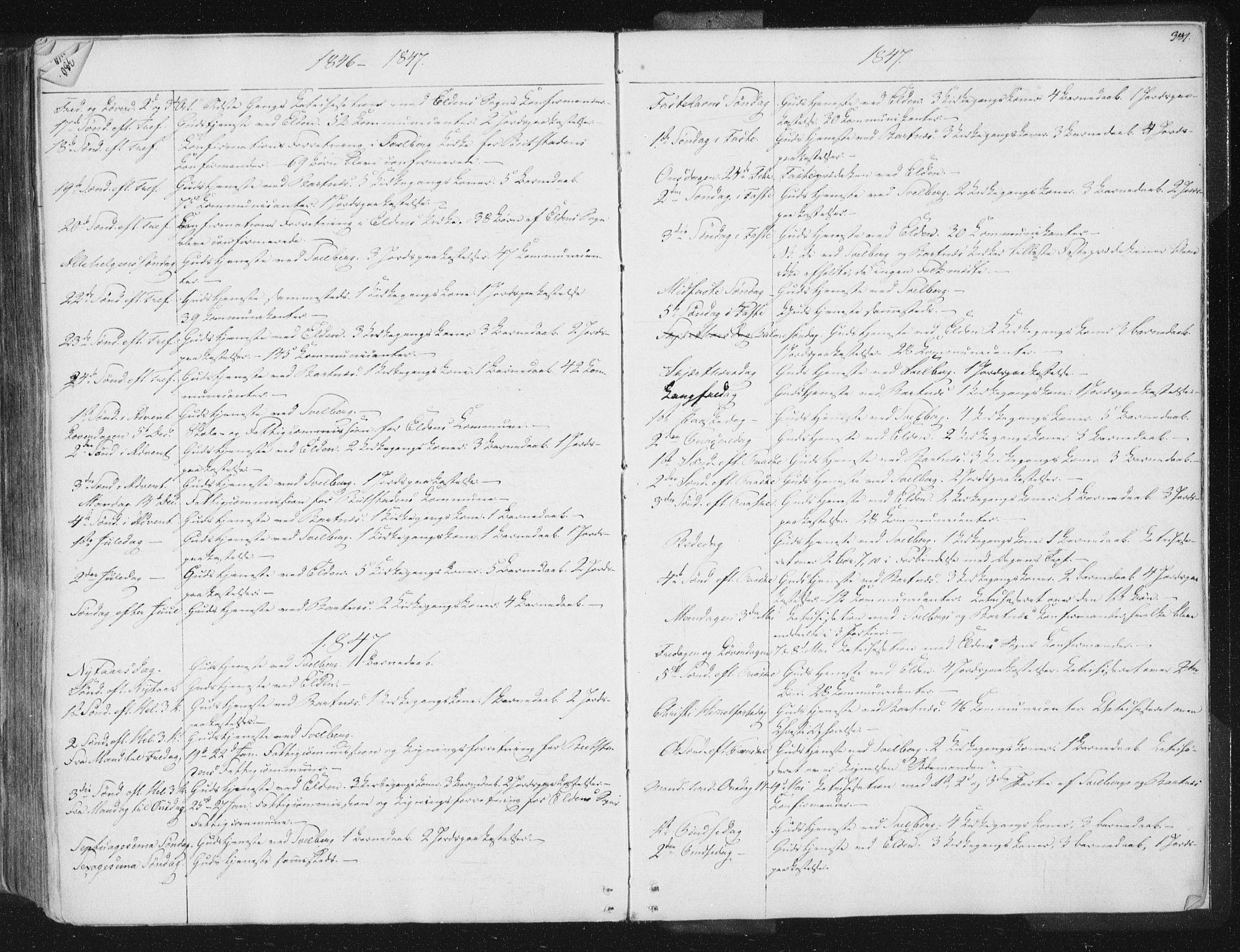 SAT, Ministerialprotokoller, klokkerbøker og fødselsregistre - Nord-Trøndelag, 741/L0392: Ministerialbok nr. 741A06, 1836-1848, s. 381