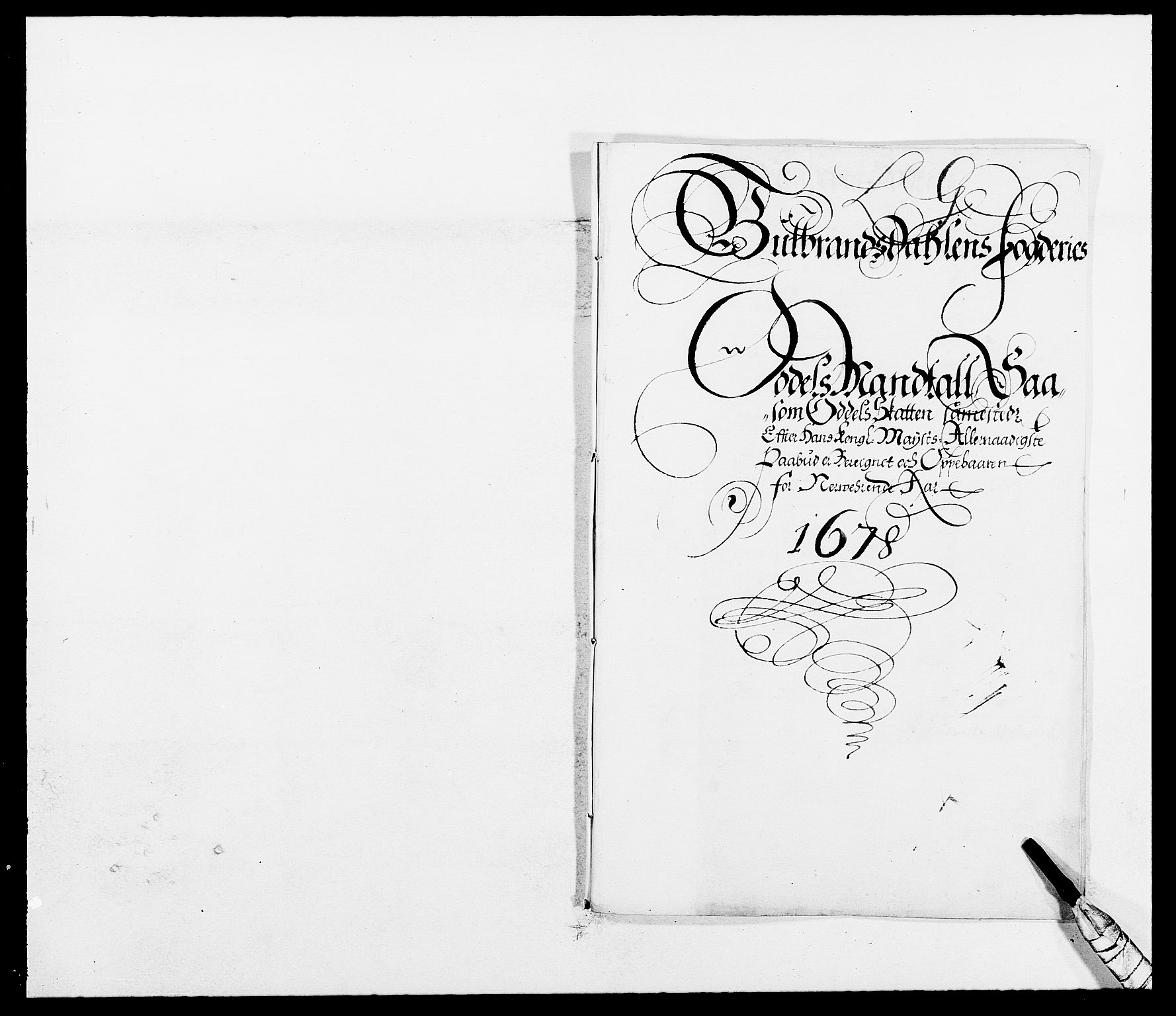 RA, Rentekammeret inntil 1814, Reviderte regnskaper, Fogderegnskap, R17/L1152: Fogderegnskap Gudbrandsdal, 1678-1679, s. 291