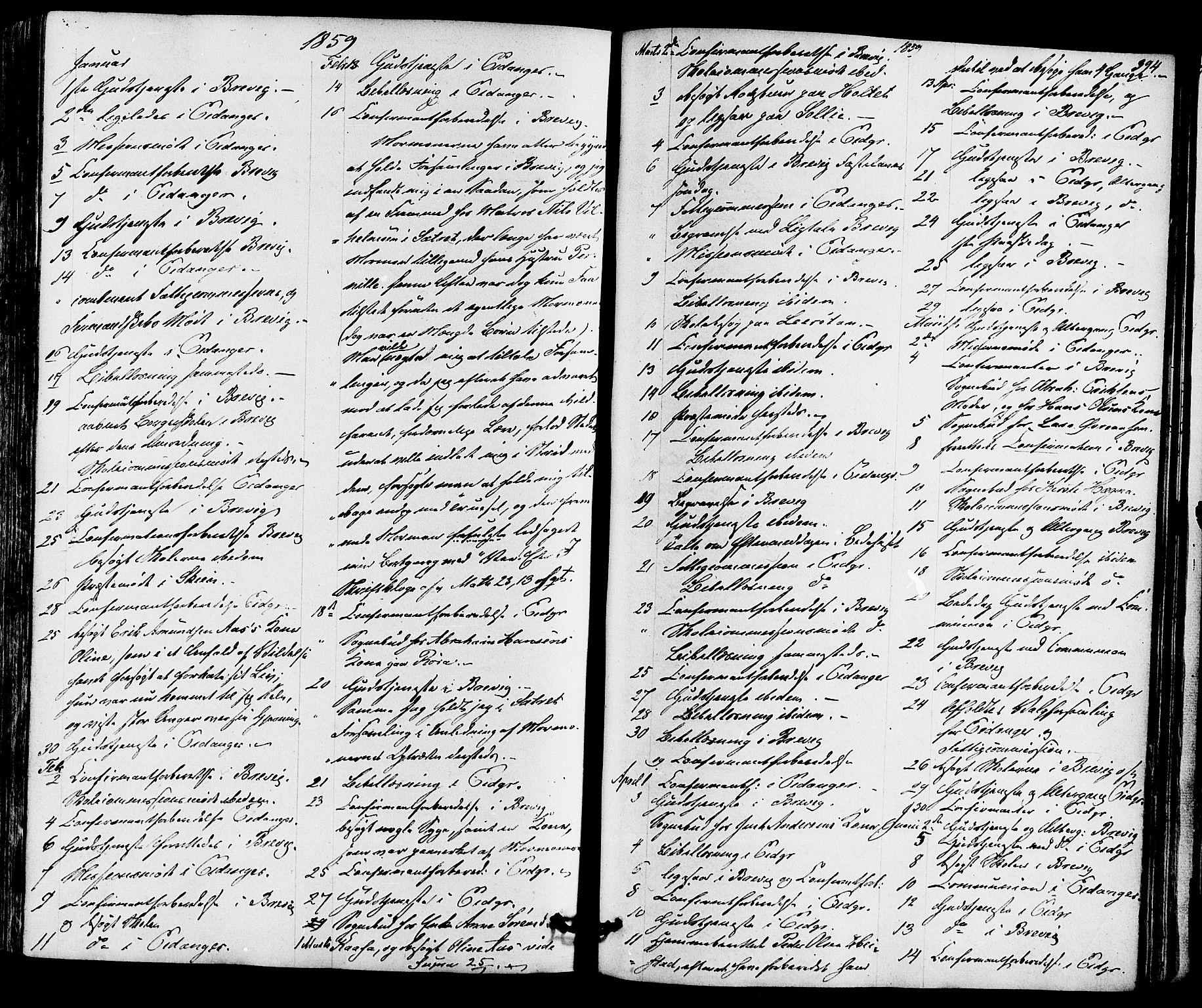 SAKO, Eidanger kirkebøker, F/Fa/L0010: Ministerialbok nr. 10, 1859-1874, s. 394